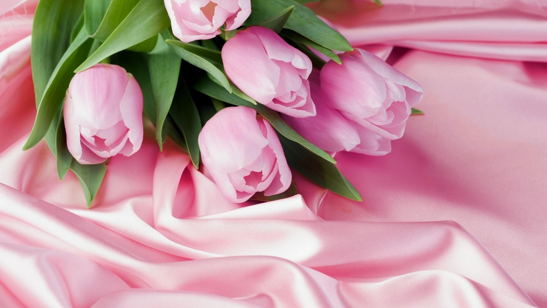 Res: 1920x1080, Pink Tulip Bouquet Wallpaper | Wallpaper Studio 10 | Tens of thousands HD  and UltraHD wallpapers for Android, Windows and Xbox