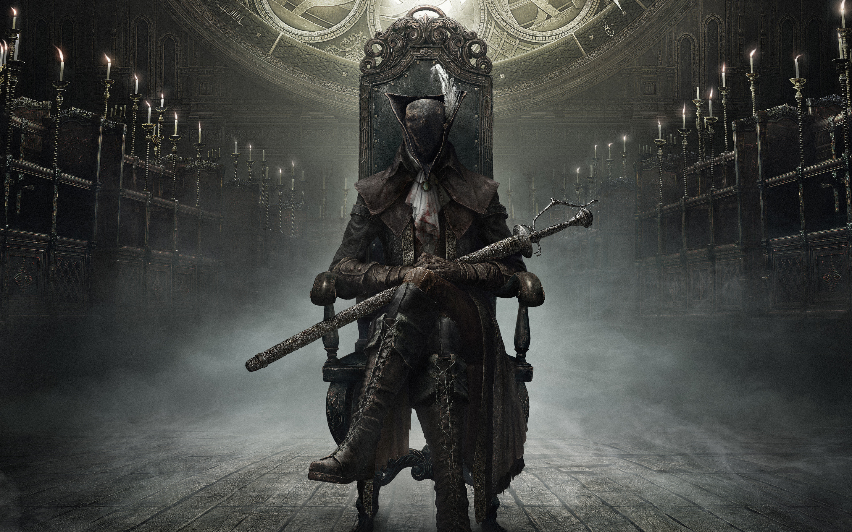 Res: 2880x1800, Bloodborne The Old Hunters Wallpaper