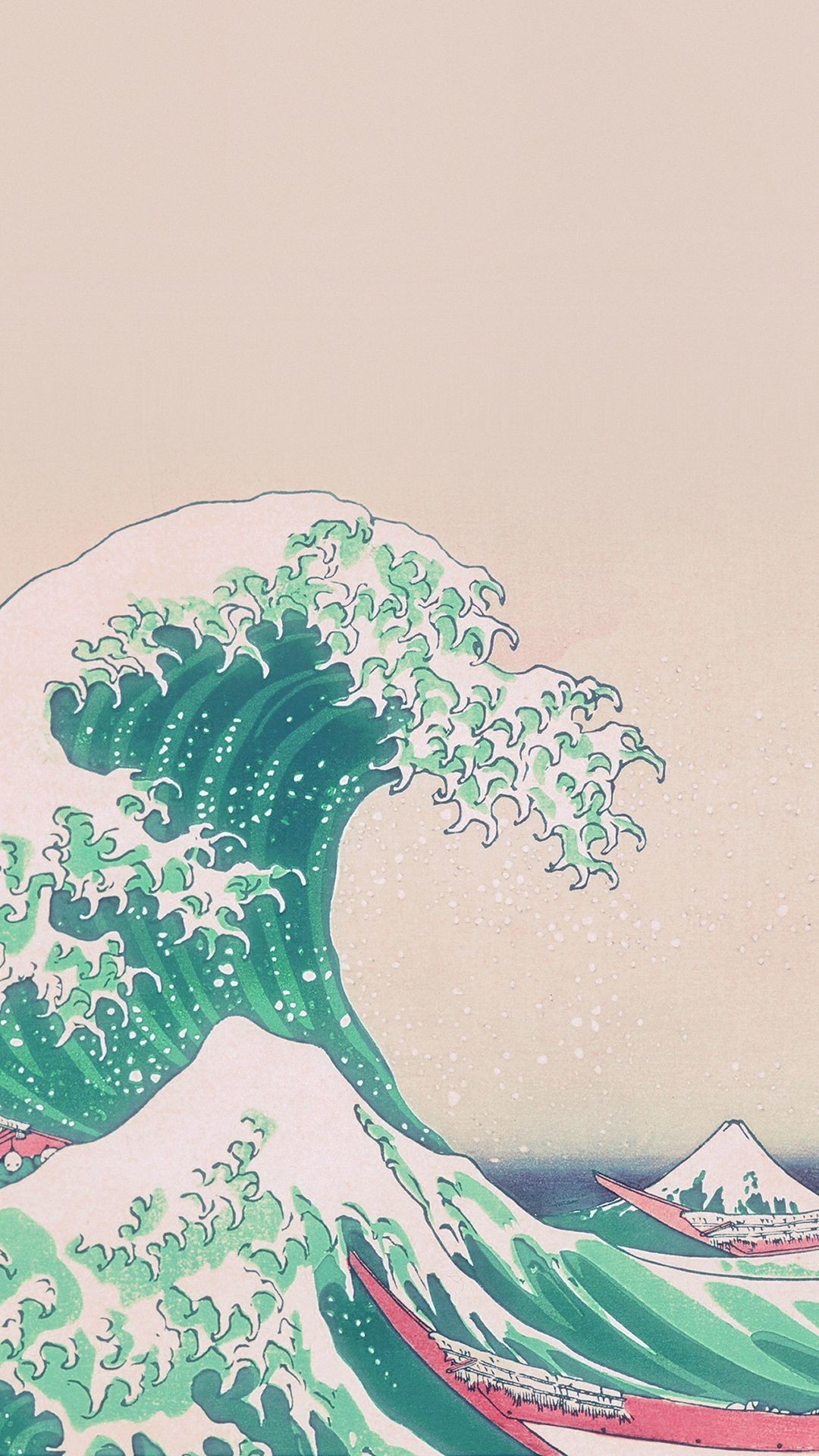 Res: 1080x1920, Japanese painting old wallpaper. Sea, painting, japan, ancient, iphone,  android