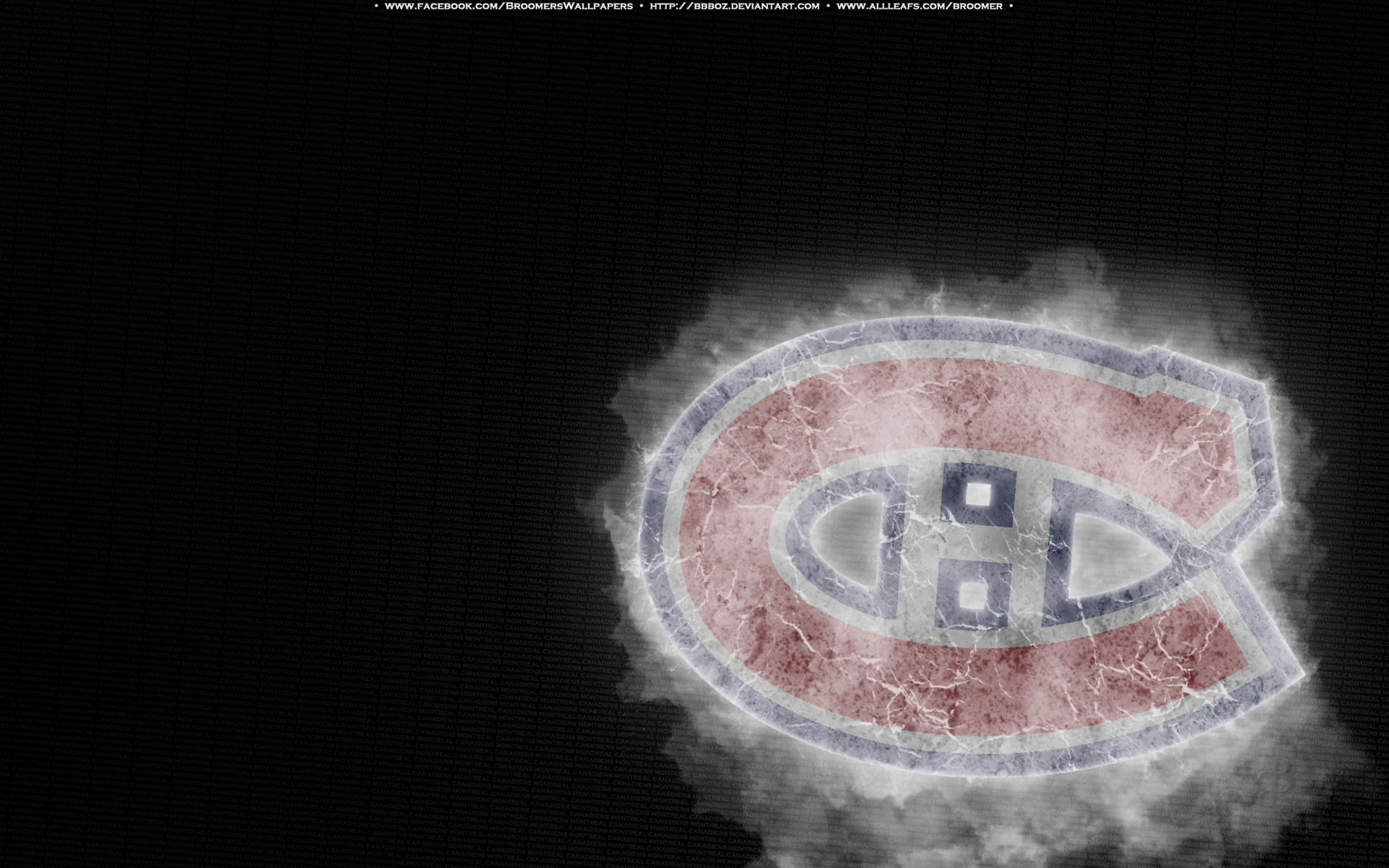 Res: 1920x1200, Montreal Canadiens Ice by bbboz Montreal Canadiens Ice by bbboz