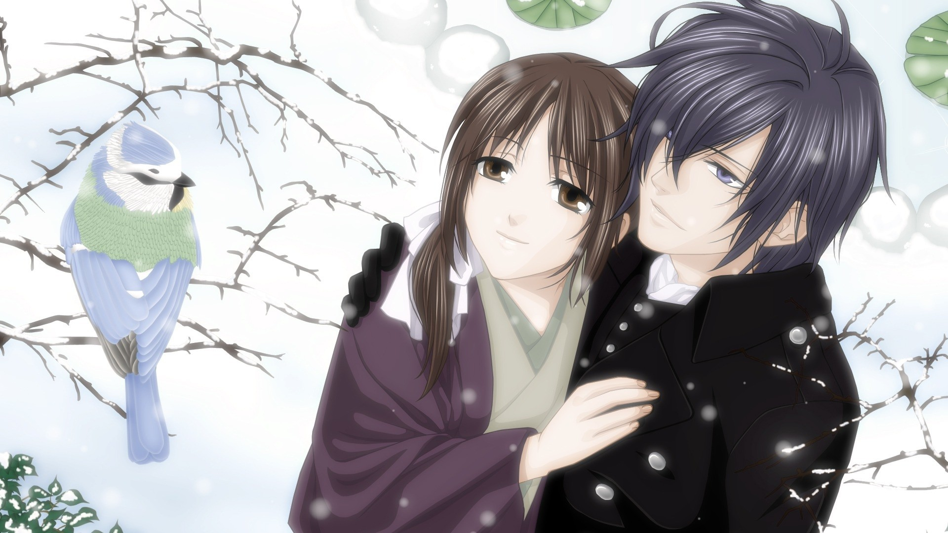 Res: 1920x1080, Download Anime HD Wallpapers Background Image hakuouki shinsengumi kitan  saito hajime anime winter bird chizuru yukimura