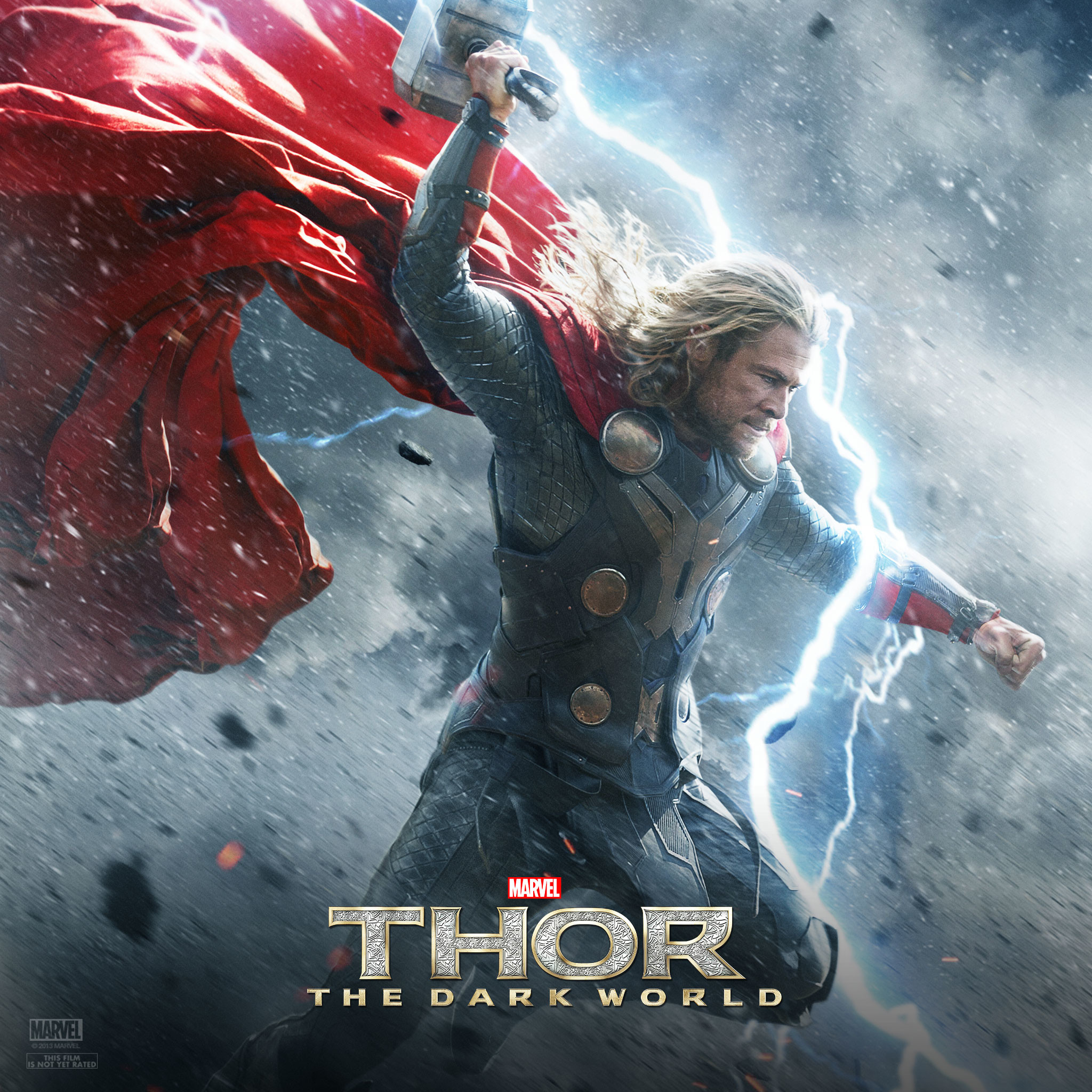 Res: 2048x2048, thor strikes with his hammer wallpaper. Thor: The Dark World .