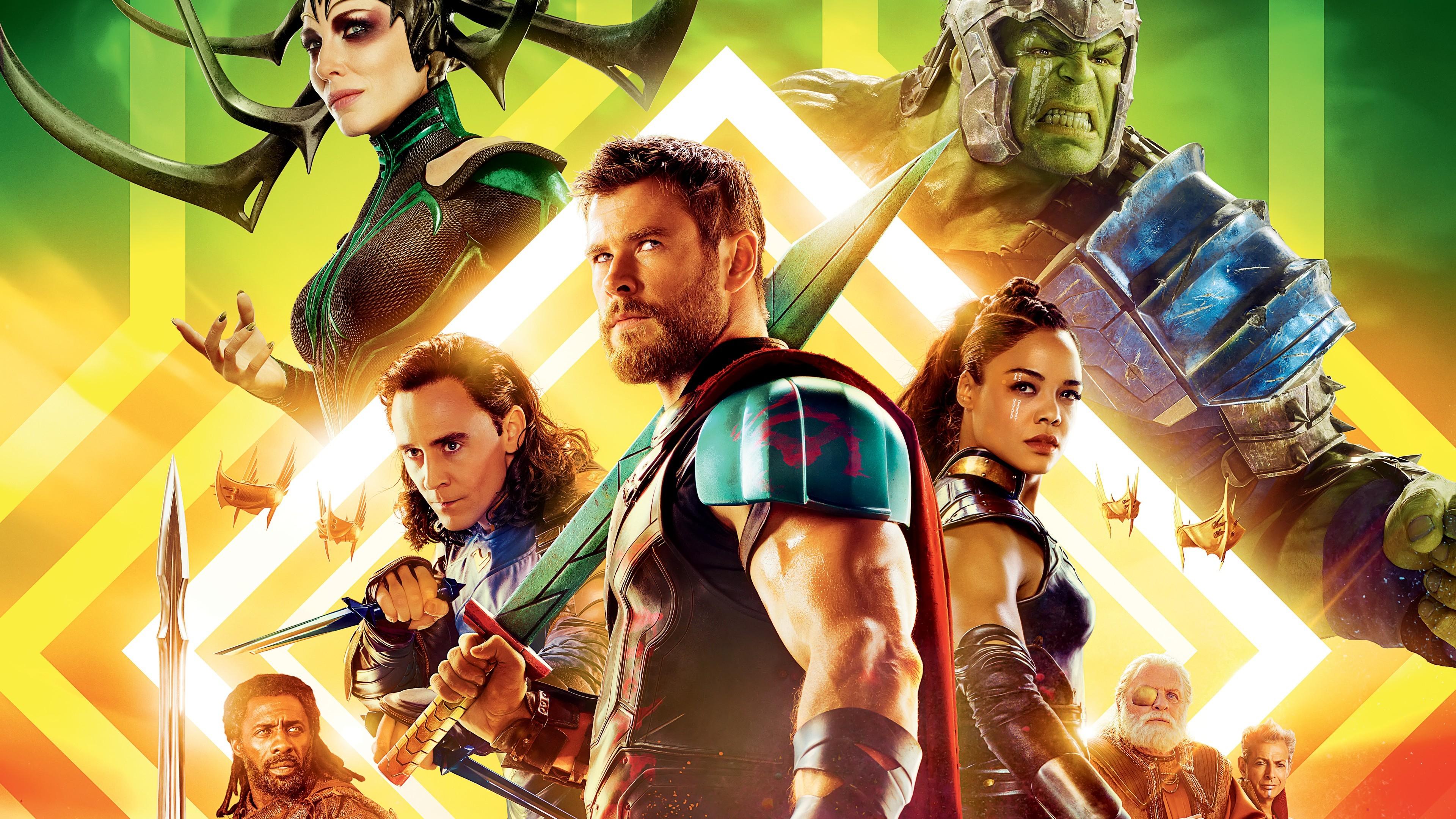 Res: 3840x2160, Movies / Thor Ragnarok Wallpaper