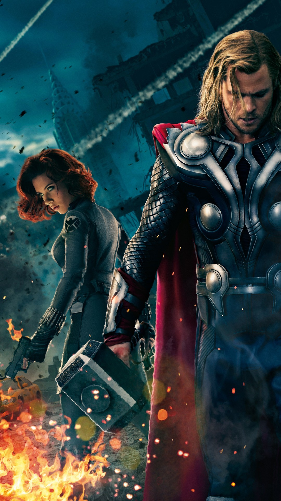 Res: 1080x1920, Movie Wallpaper The-Avengers-Thor-and-Black-Widow for mobile HD