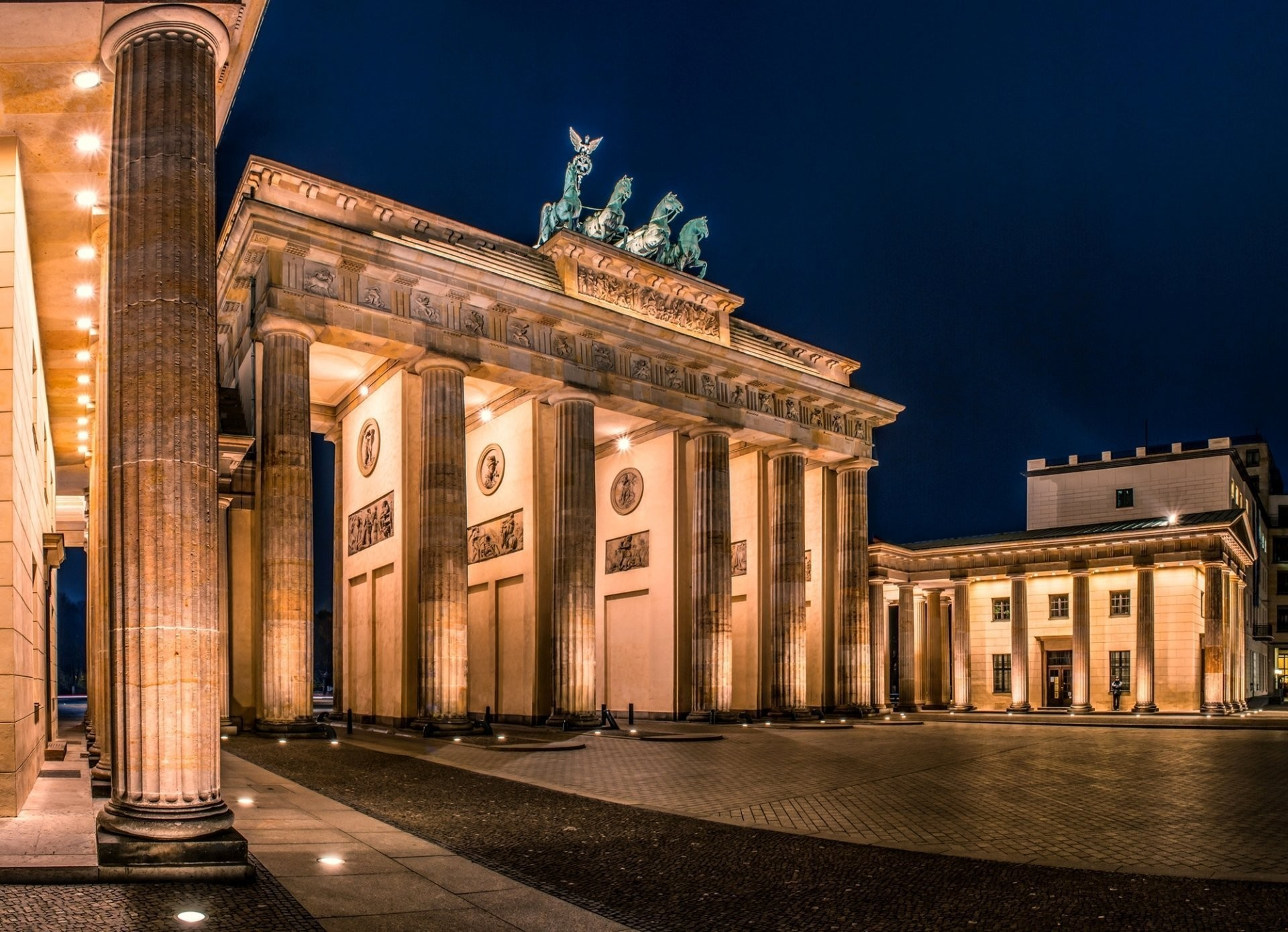 Res: 1920x1389,  berlin deutschland germany brandenburger tor berlin germany  brandenburg gate town night lighting square architecture