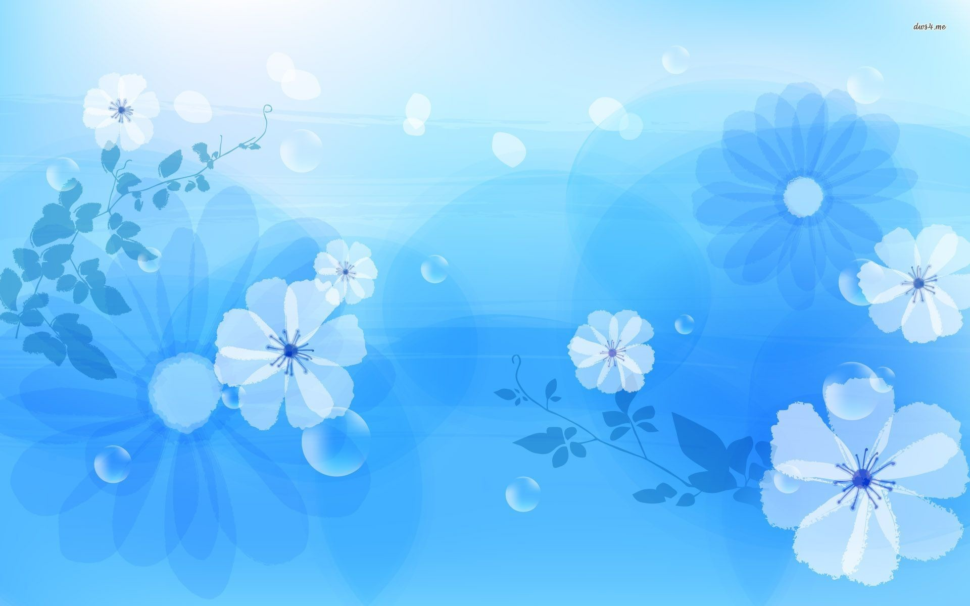 Res: 1920x1200, Blue Flower Wallpaper Picture