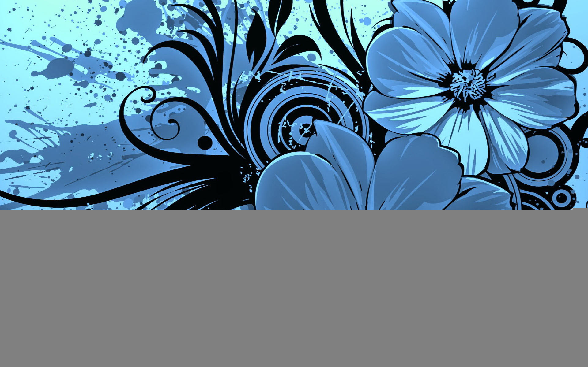 Res: 1920x1200, Blue Flower Wallpaper
