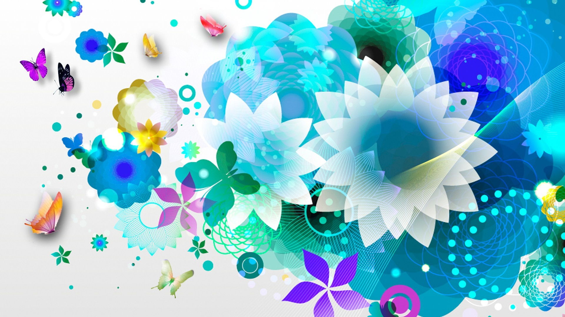 Res: 1920x1080, Blue Flower Wallpapers