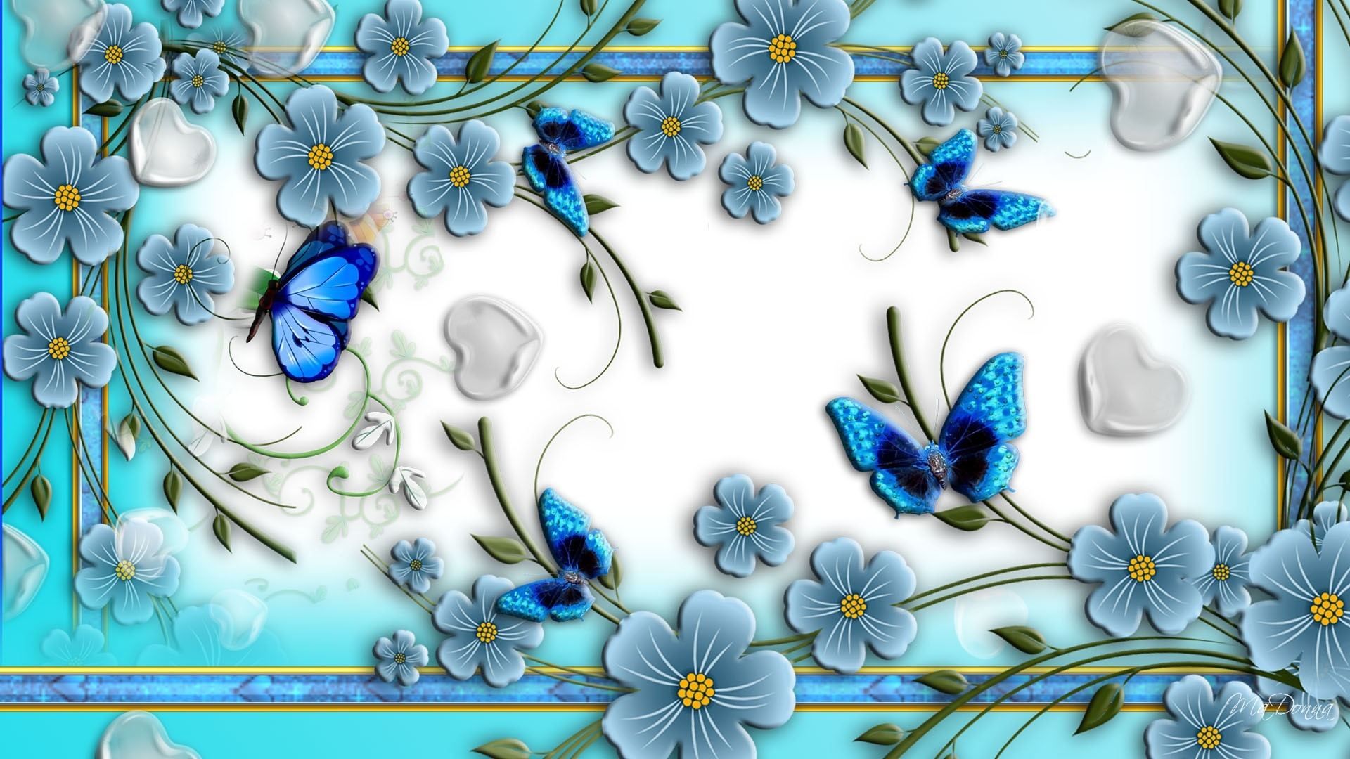 Res: 1920x1080, Blue Flowers Hd Wallpapers 45 Background