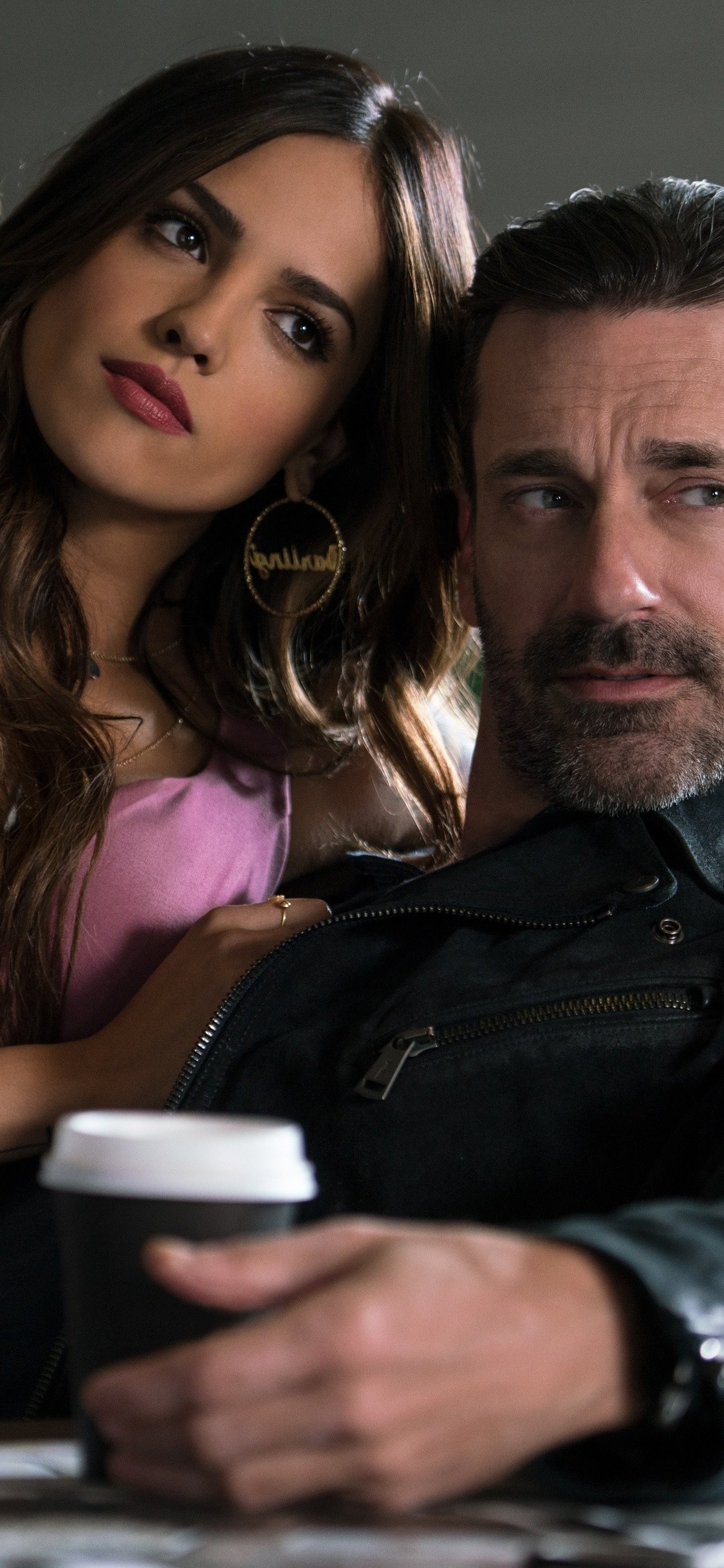 Res: 1125x2436, eiza-gonzalez-and-jon-hamm-in-baby-driver-