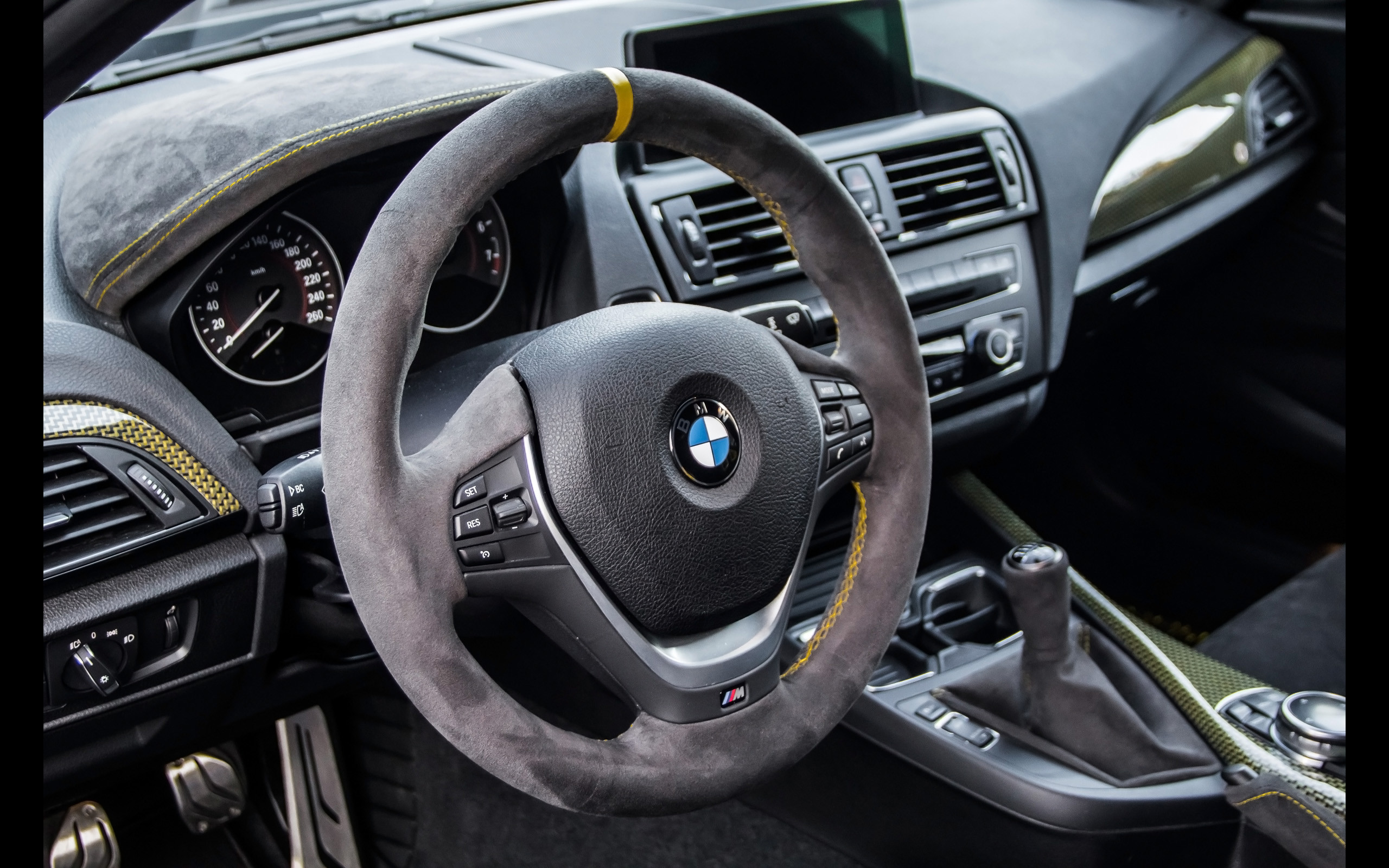 Res: 2560x1600, 2014 Manhart Performance BMW M135i MH1 400 - Interior - 5 -  -  Wallpaper