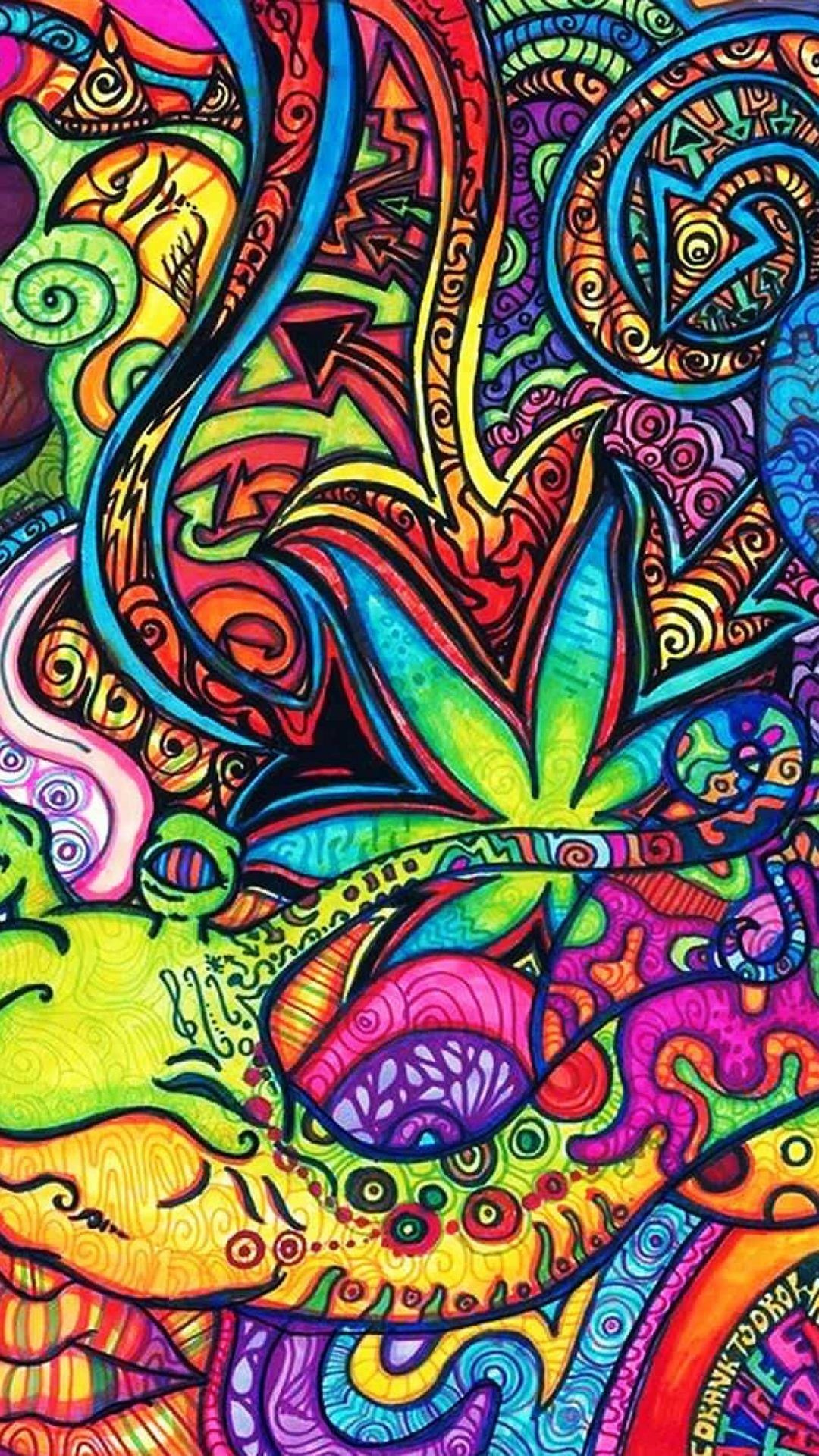 Res: 1080x1920, Psychedelic Trippy Backgrounds For Desktop Android iPhone HD