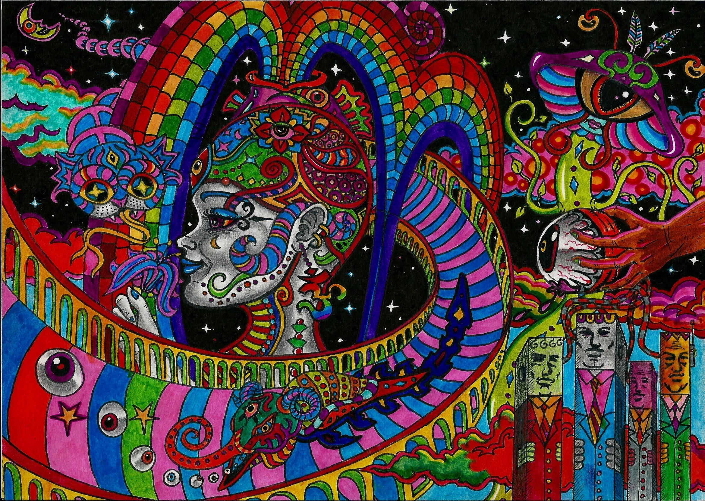 Res: 2339x1664, Trippy Acid Wallpaper High Quality Hd Trip Desktop For Mobile Phones