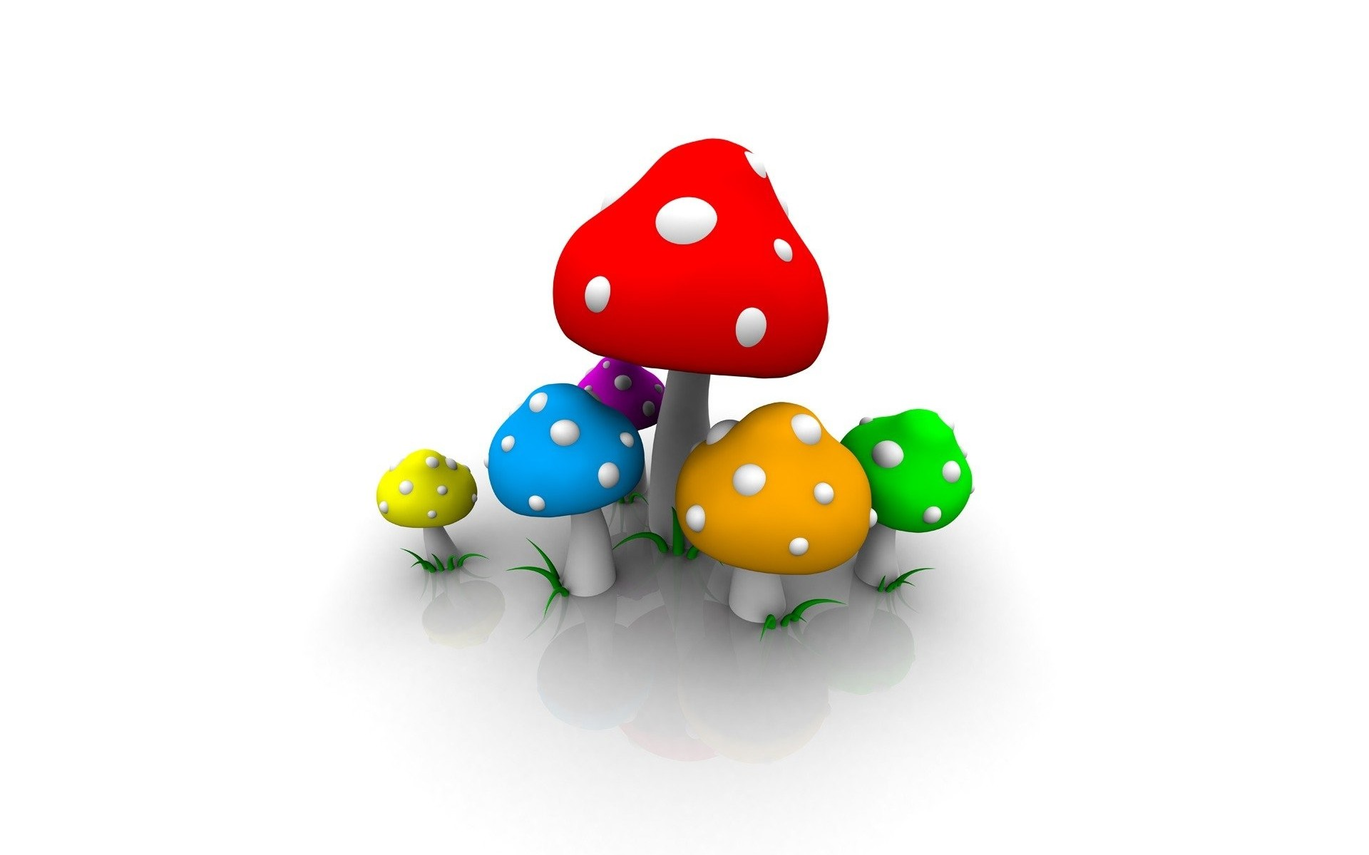 Res: 1920x1200, Colorful Shrooms Wallpaper