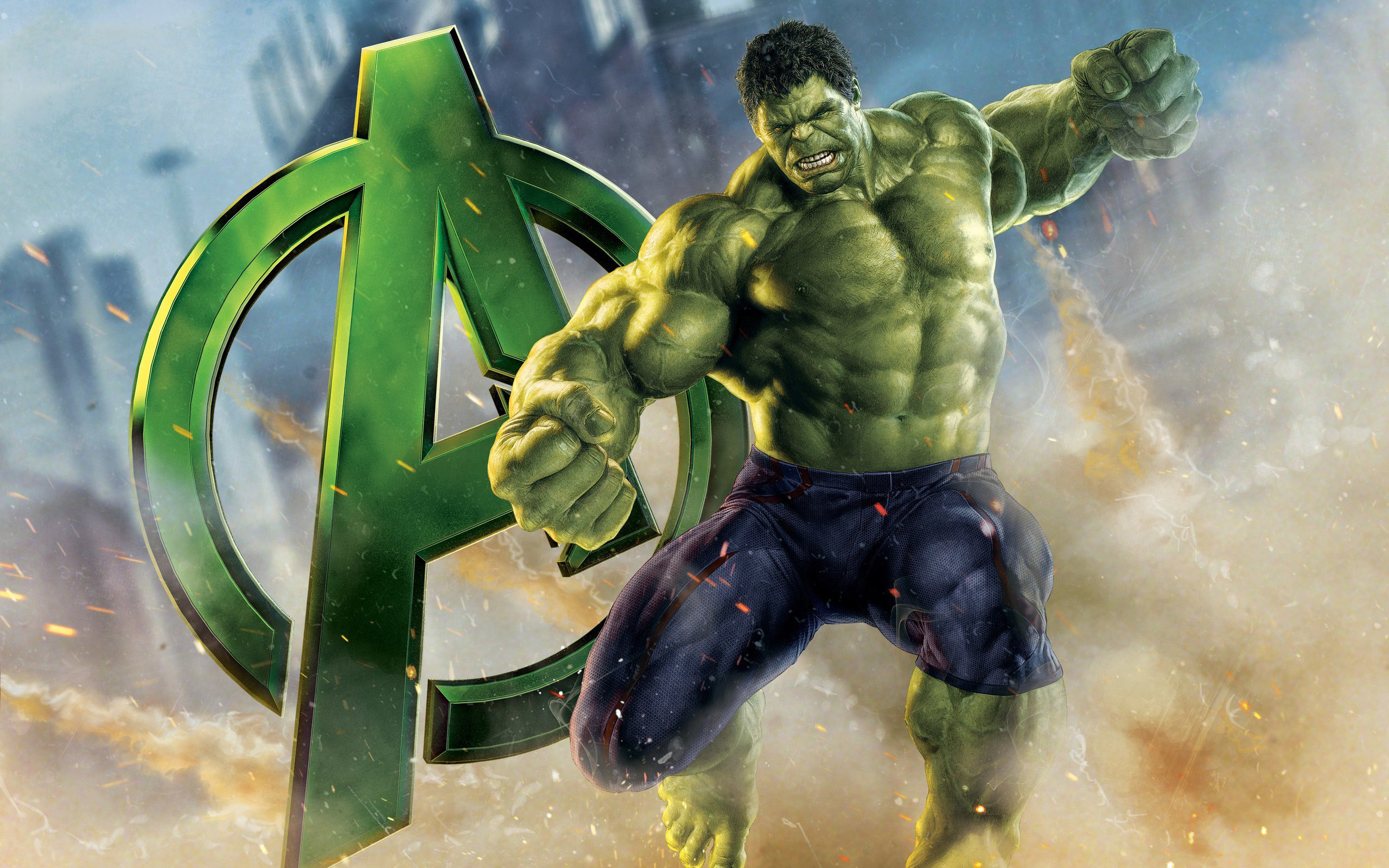Res: 2560x1600, Avengers Hulk