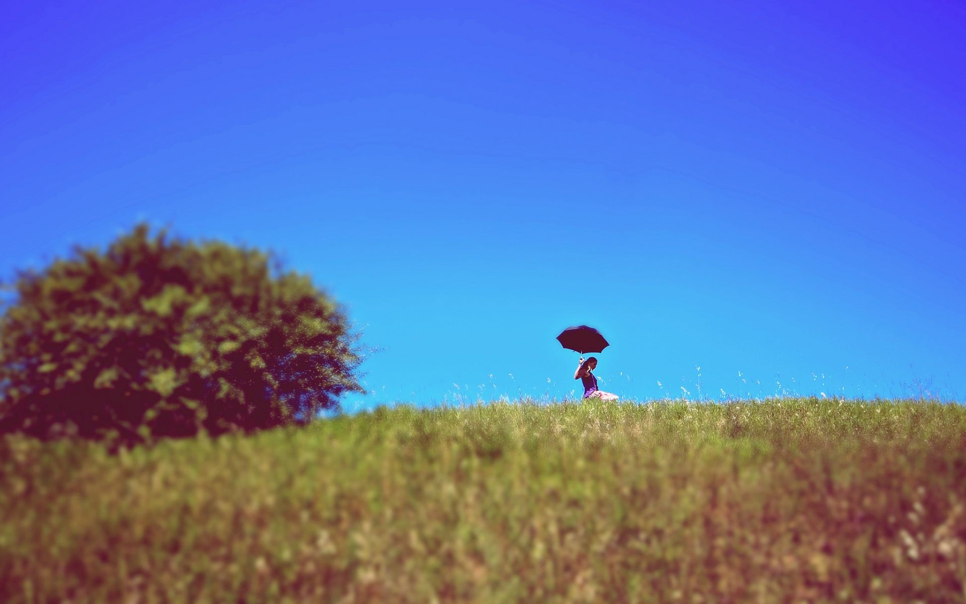 Res: 1920x1200, girl umbrella summertime