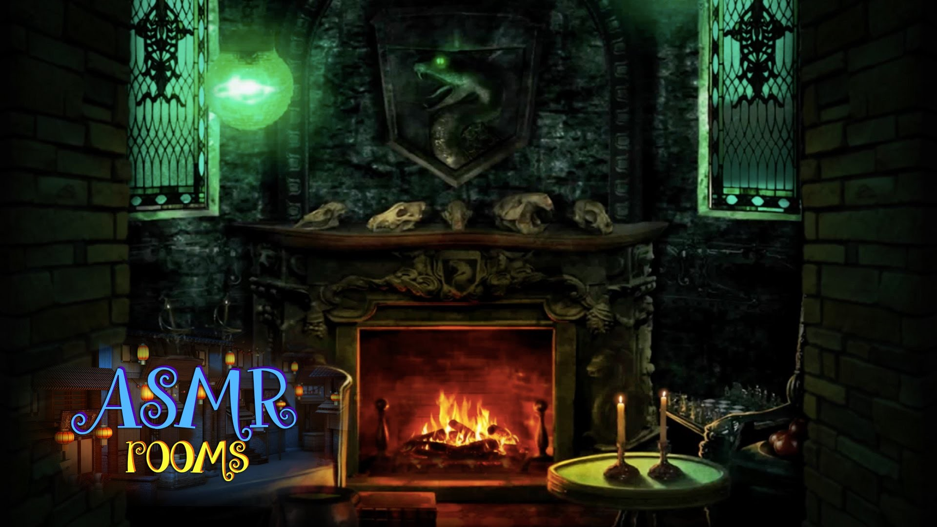 Res: 1920x1080, Harry Potter ASMR - Slytherin Common Room - POV HD ambient sound white  noise - Cinemagraphs - YouTube