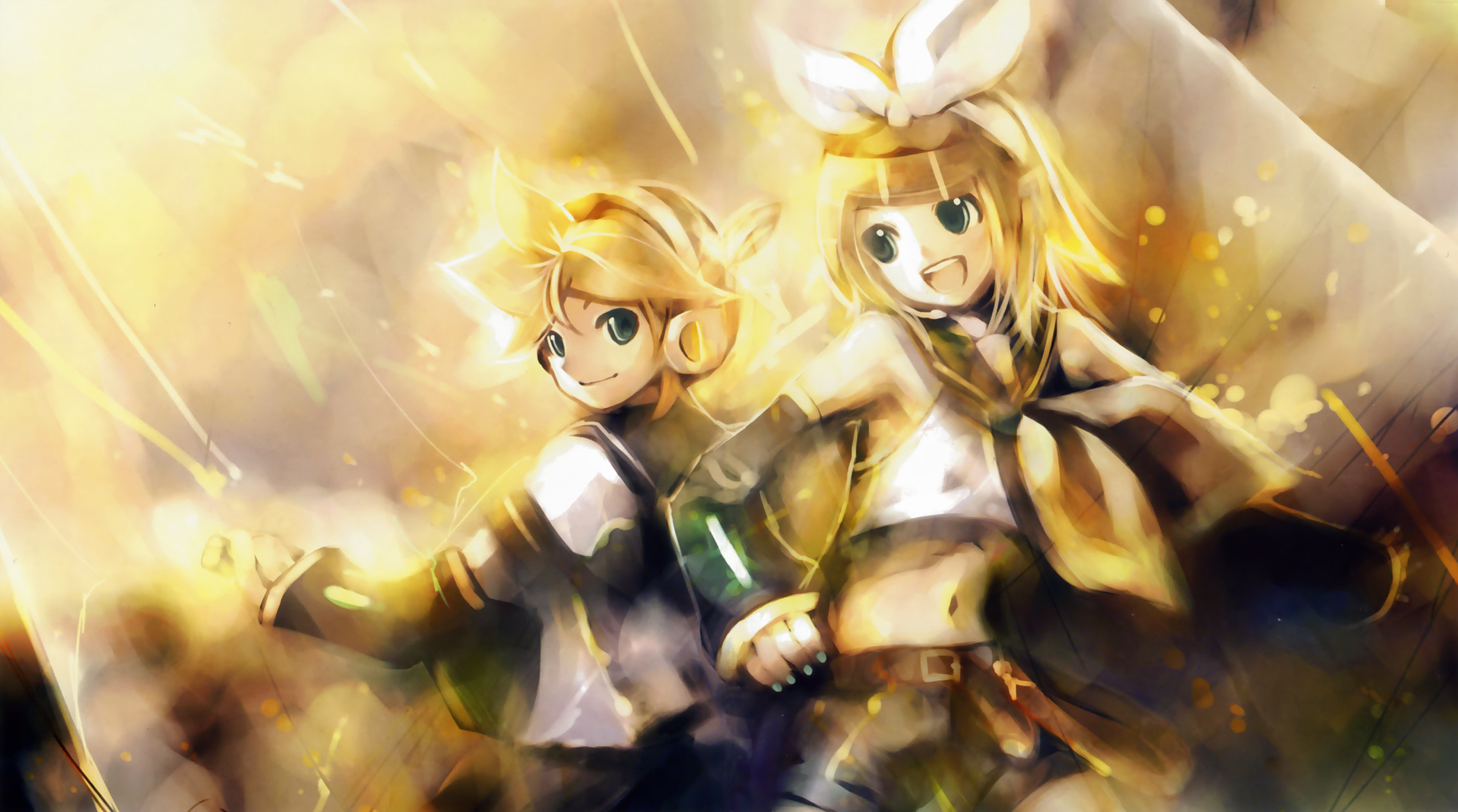 Res: 2100x1170, nejiten2 images Kagamine len and rin HD wallpaper and background photos