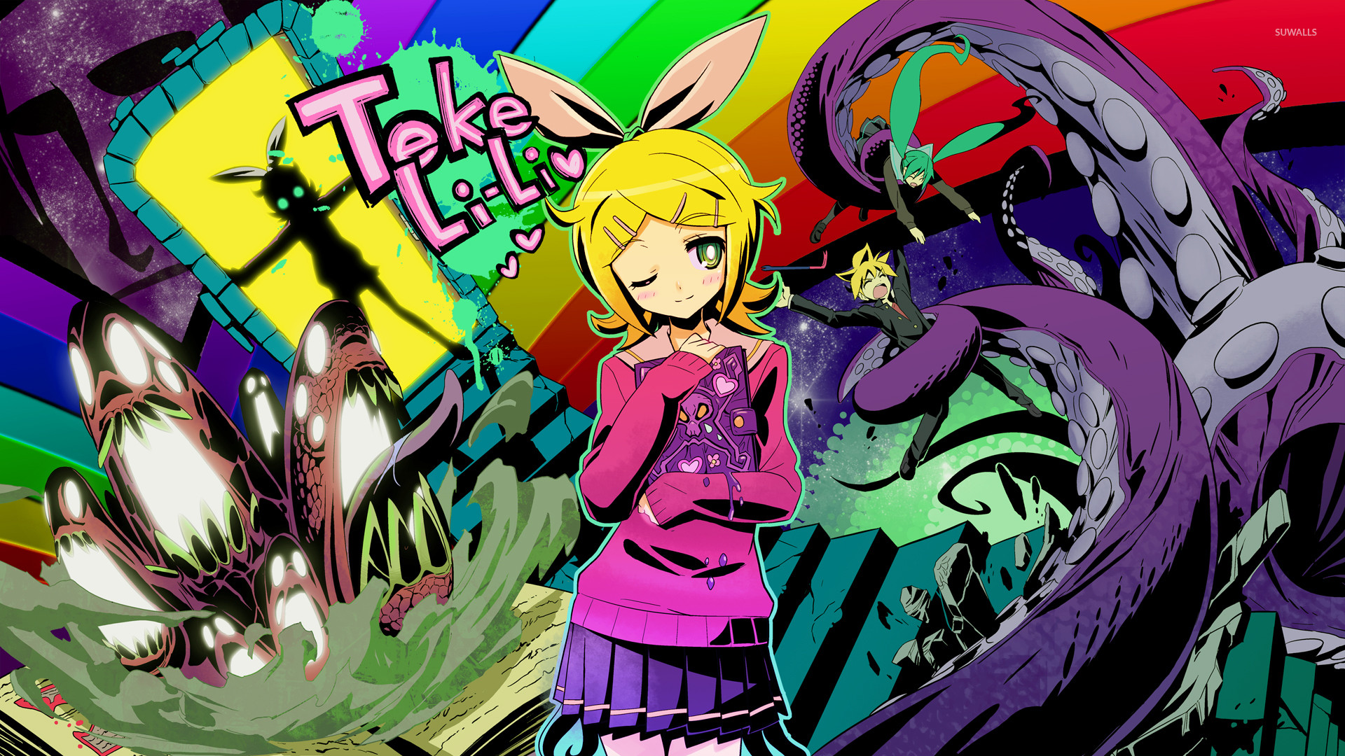 Res: 1920x1080, Kagamine Rin from Vocaloid wallpaper