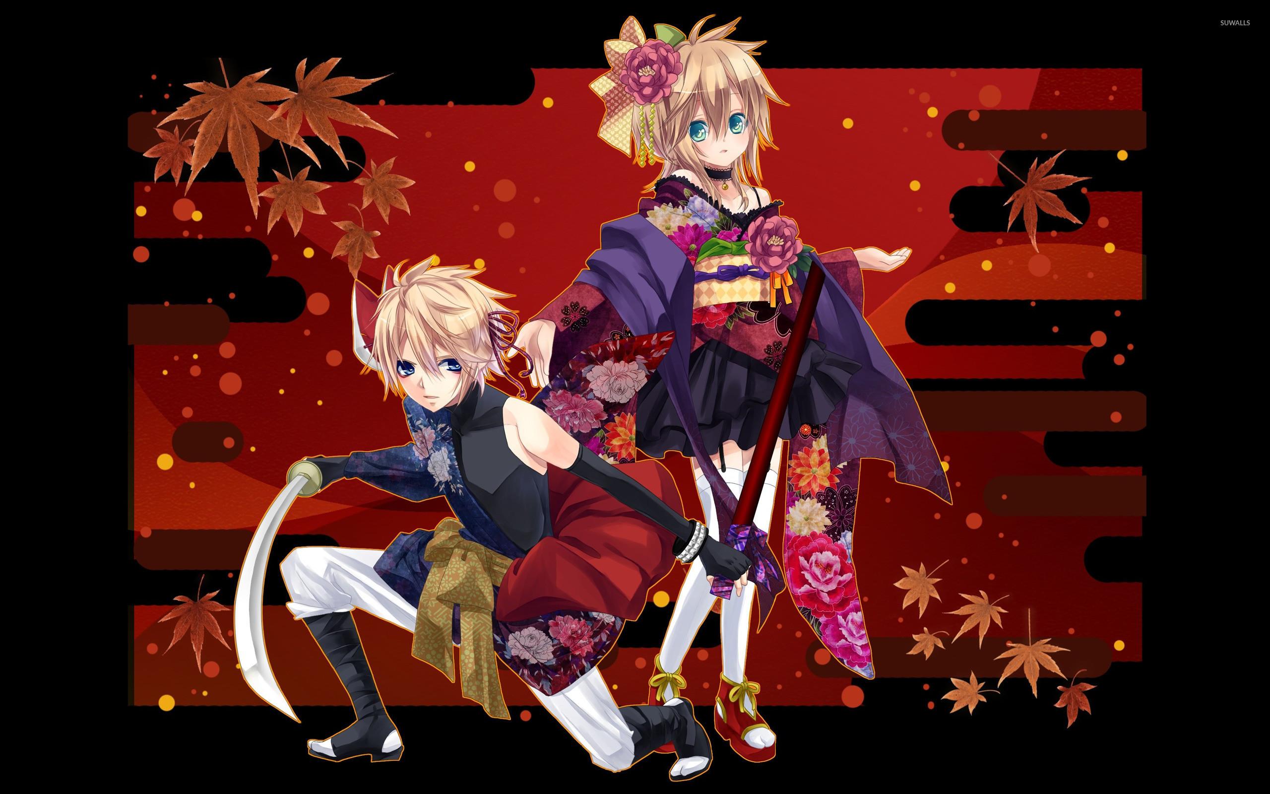 Res: 2560x1600, Kagamine Rin & Len wallpaper