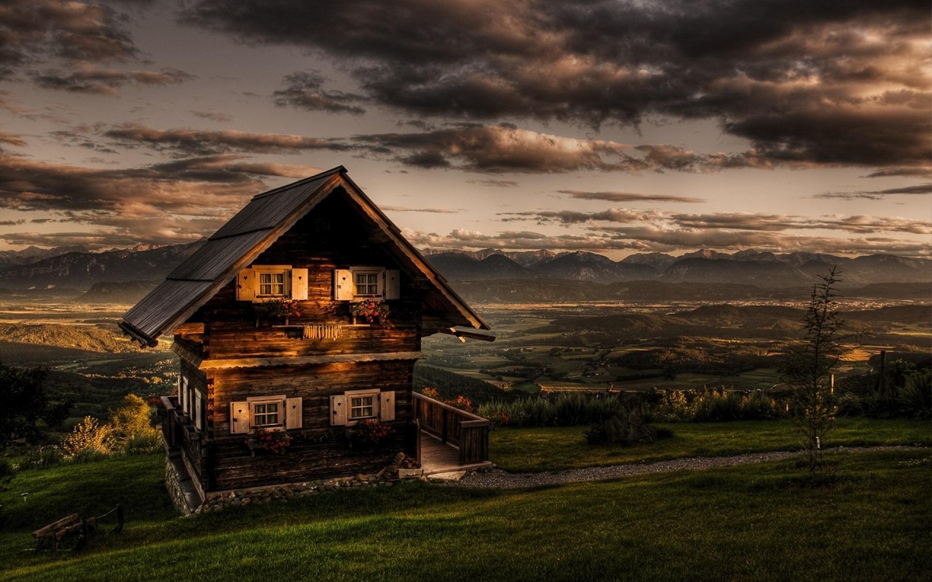 Res: 1920x1200, Bild: Berge-Hütte & Scenic wallpapers and stock photos. «