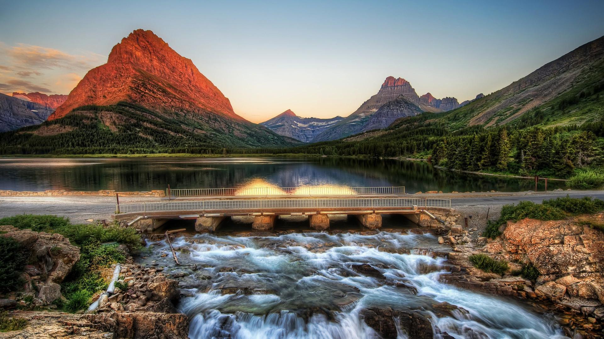Res: 1920x1080, glacier-national-park-montana-usa-nature-wallpaper--