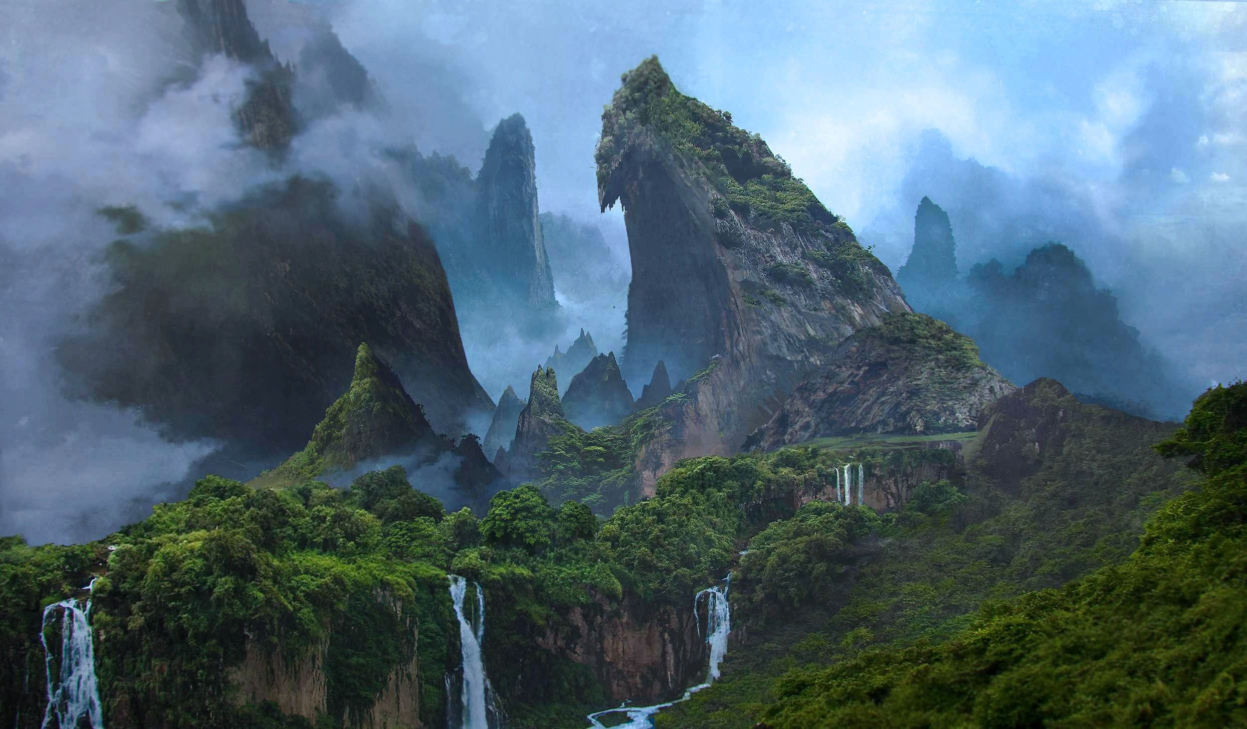 Res: 2500x1462, scenic wallpapers, jungle wallpapers, forest wallpapers, woods wallpapers,  trees wallpapers, mountains wallpapers, hills wallpapers, cliffs wallpapers,  ...