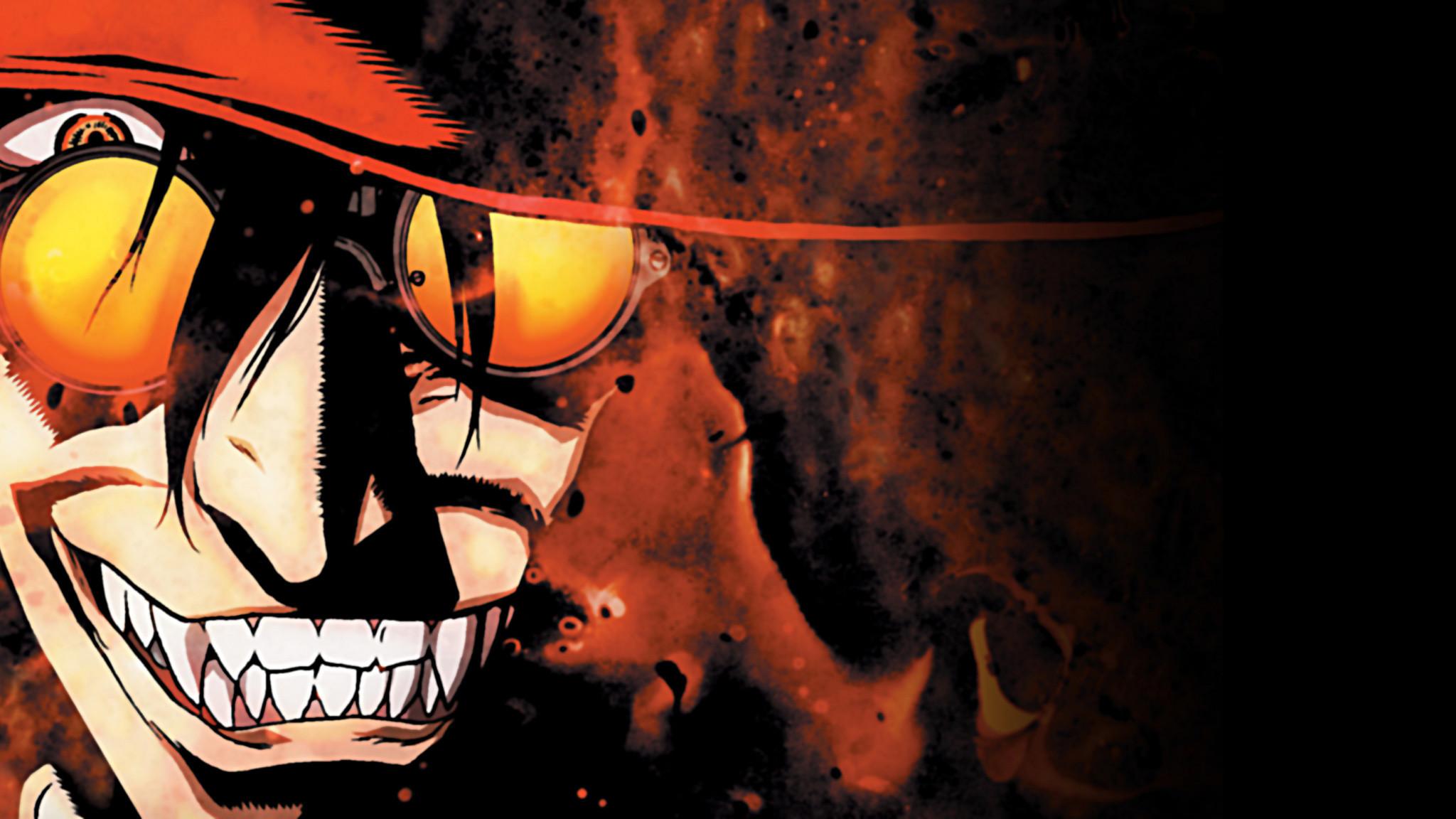 Res: 2048x1152,  wallpaper Sunglasses, smile, Alucard, Hellsing