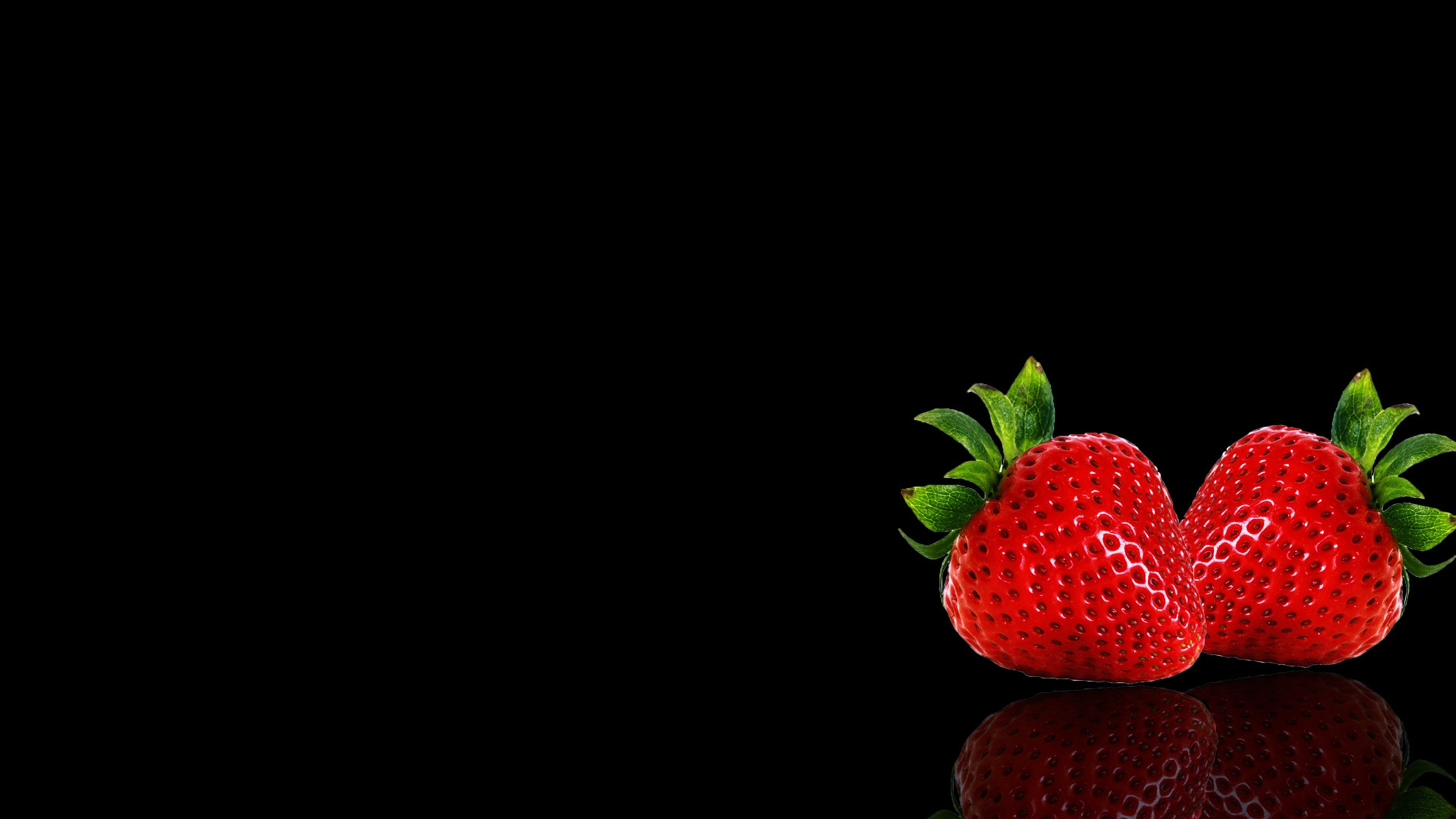 Res: 3840x2160, Apple background black fruits wallpapers Strawberry wallpaper |  |  655970 | WallpaperUP