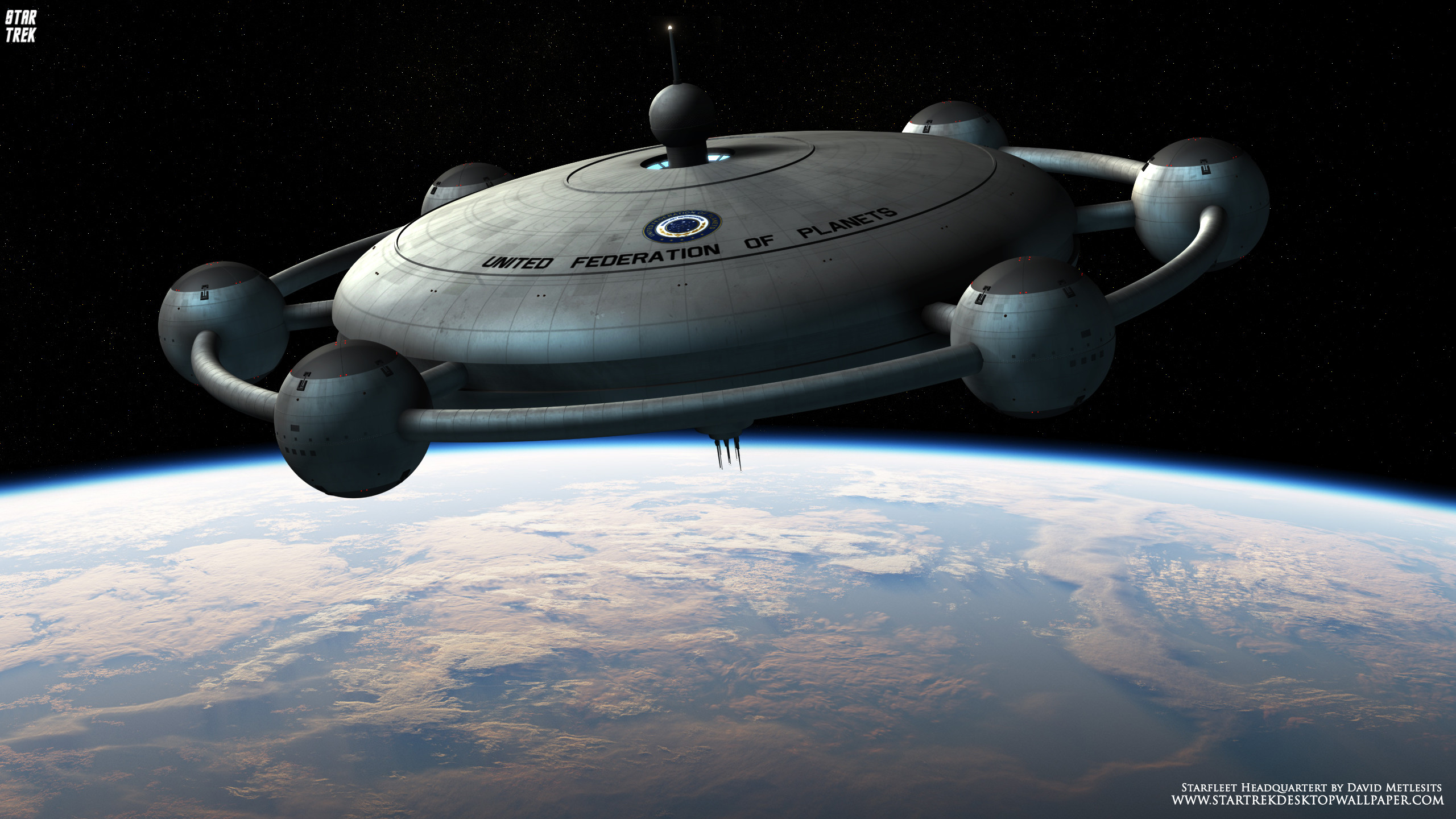 Res: 2560x1440, Star Trek Starfleet Headquarters - free Star Trek computer desktop wallpaper,  pictures, images