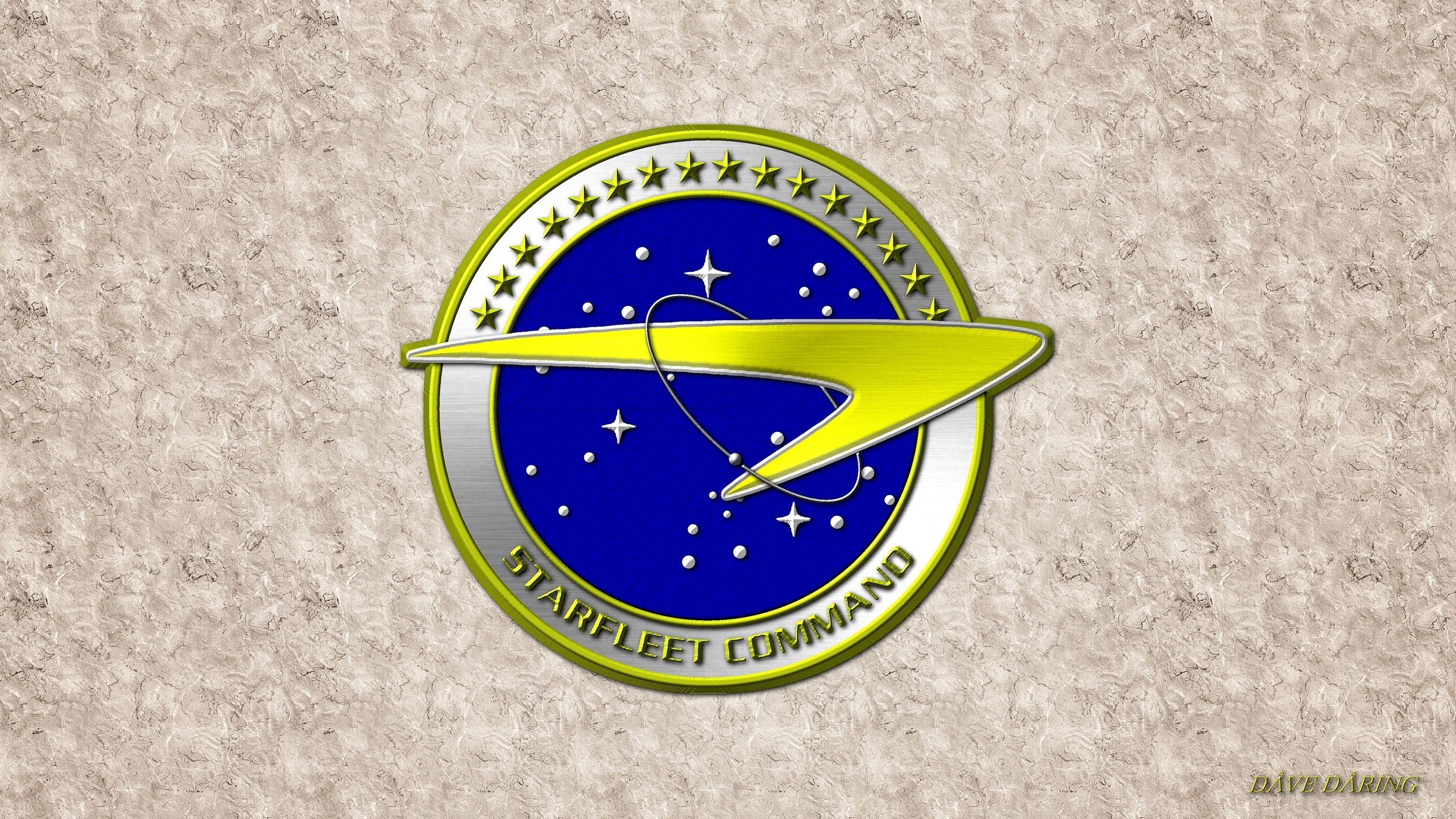Res: 2560x1440, ... Enterprise Era Starfleet Command Emblem by Dave-Daring