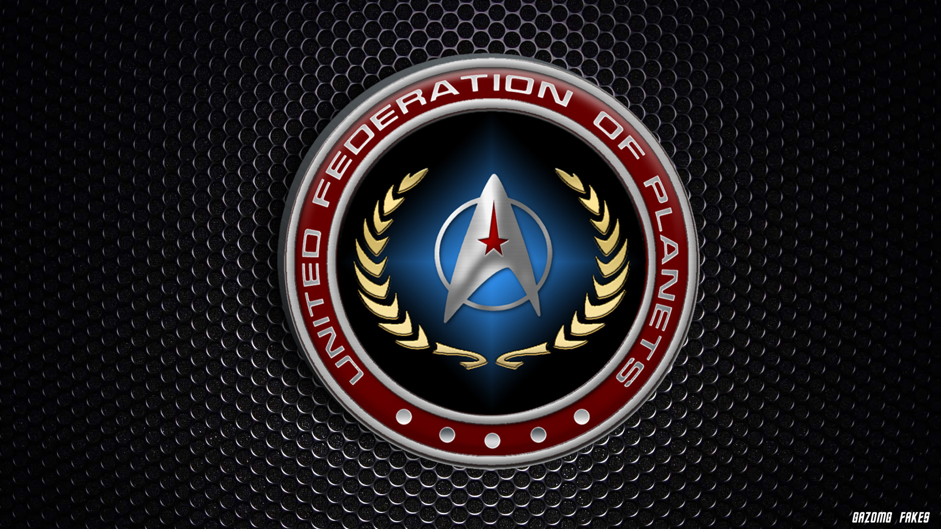 Res: 1920x1080, United Federation of Planets logo Starfleet by gazomg on .