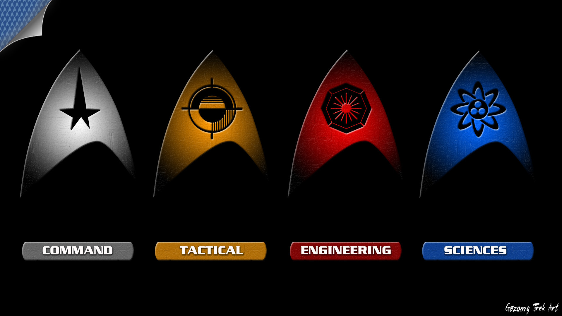 Res: 1920x1080, Star Trek Starfleet Departmemt logos by gazomg