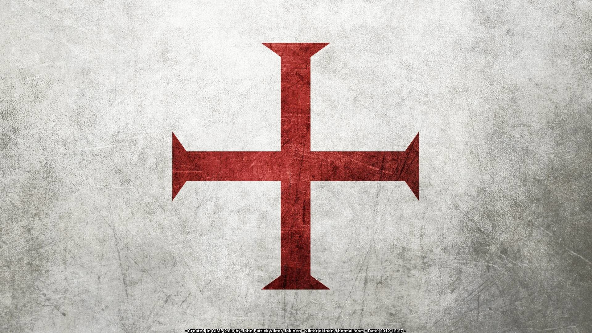 Res: 1920x1080, Flag of the Knights Templar (Several Resolutions) by .