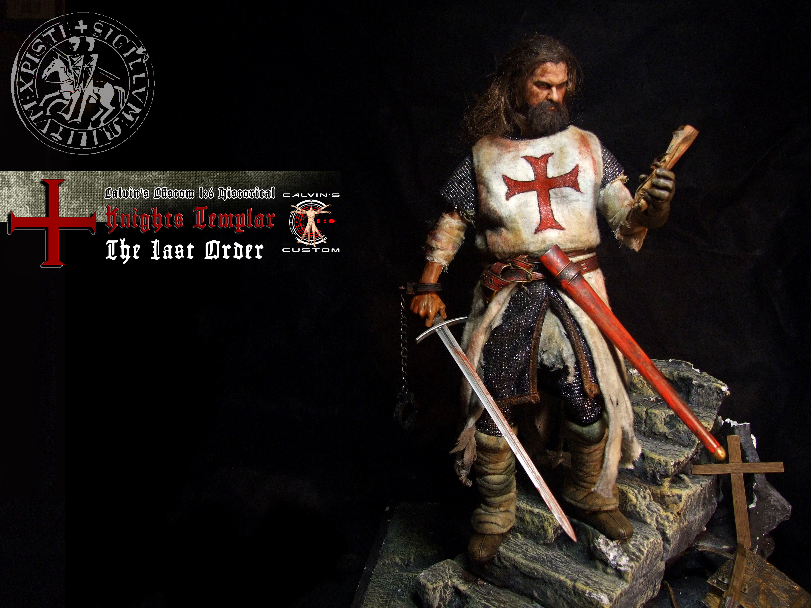 """Res: 2848x2136, Assassin's creed: Assassin or Templar images Calvin's Custom 1:6 one sixth  scale Historical Figure: """"Knights Templar The Last Order"""" custom figur HD  ..."""