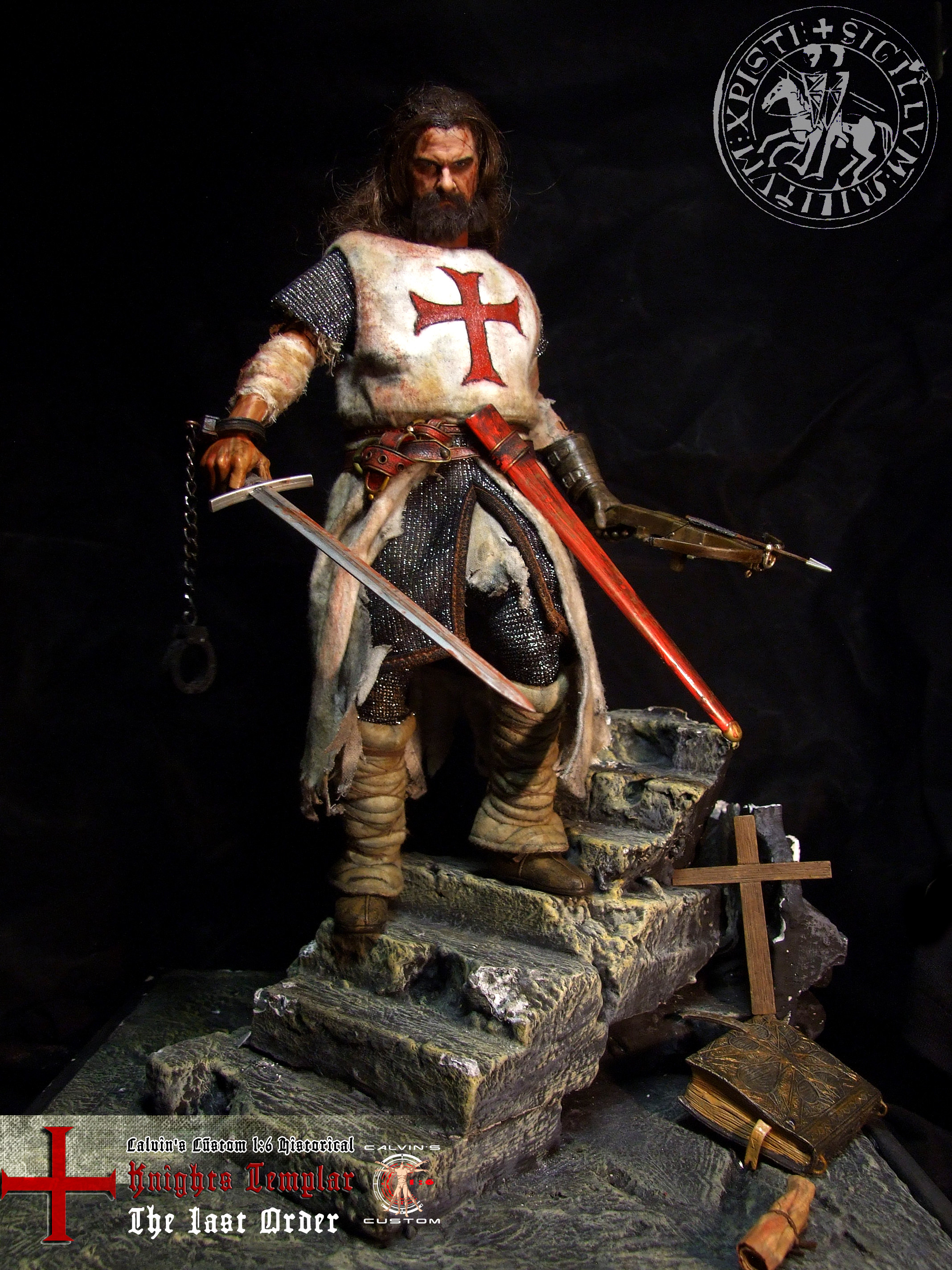 """Res: 2136x2848, Assassin's creed: Assassin or Templar images Calvin's Custom 1:6 one sixth  scale Historical Figure: """"Knights Templar The Last Order"""" custom figur HD  ..."""