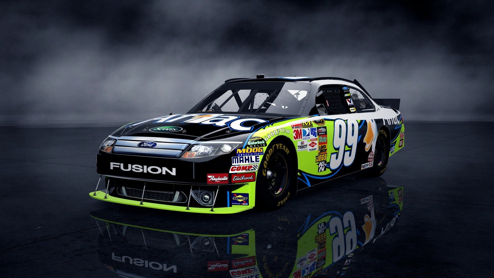 Res: 1920x1080, vehicles Nascar wheels Ford Fusion automobiles wallpaper background