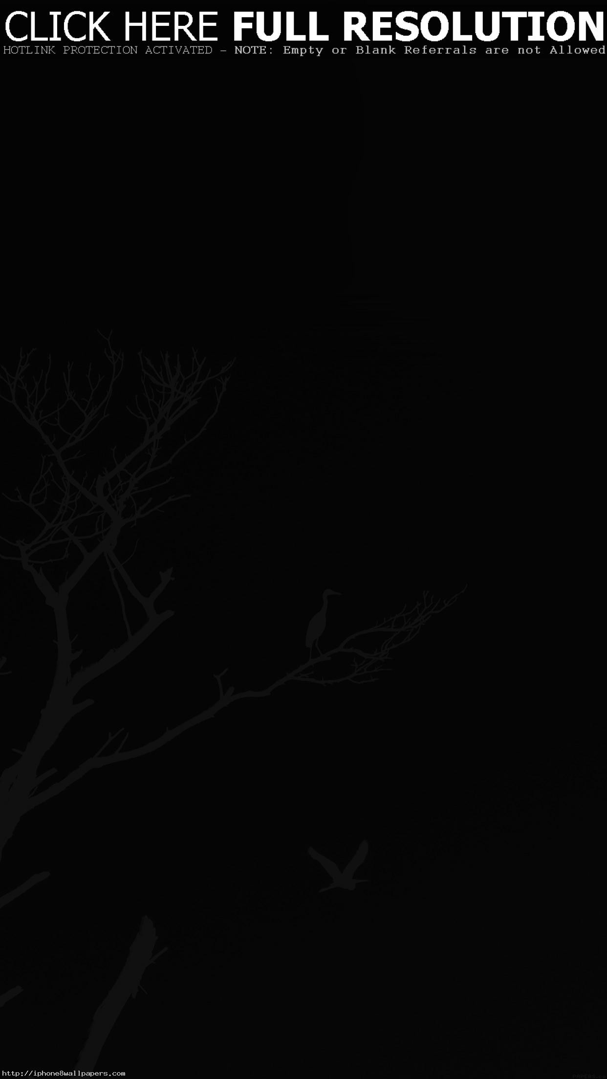 Res: 1242x2208, Bird Sunset Tree Dark Nature Minimal Android wallpaper - Android HD  wallpapers