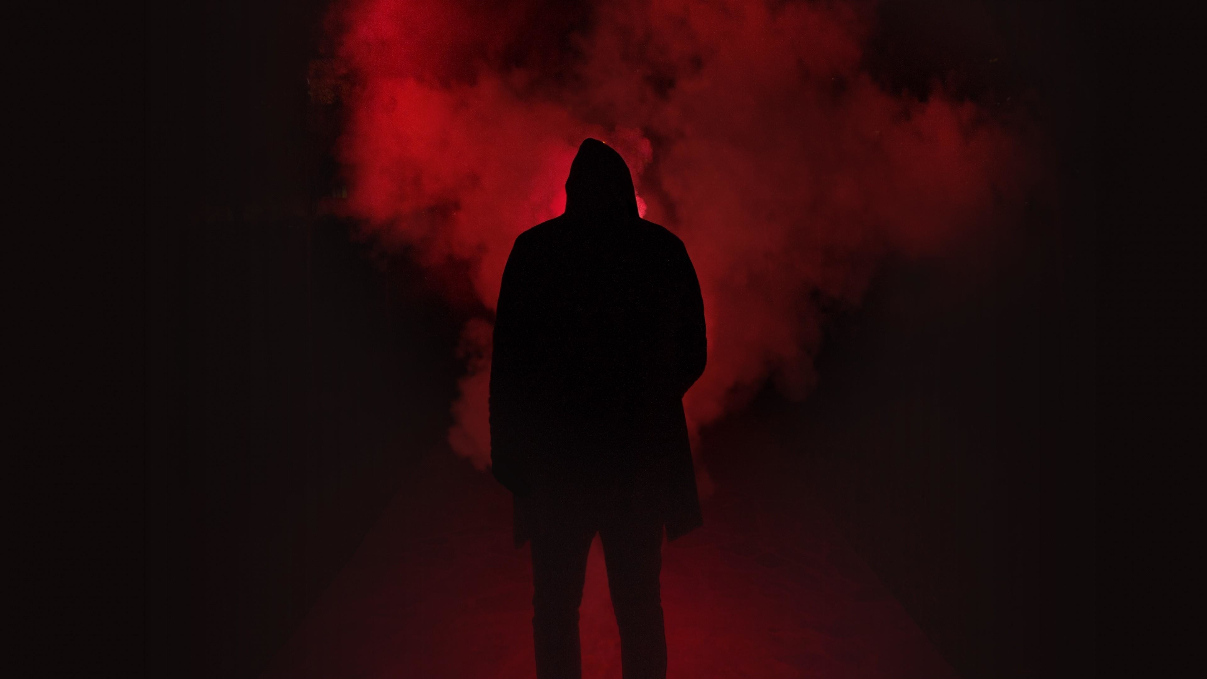 Res: 3840x2160, Man Silhouette In The Dark Wallpaper | Wallpaper Studio 10 | Tens of  thousands HD and UltraHD wallpapers for Android, Windows and Xbox