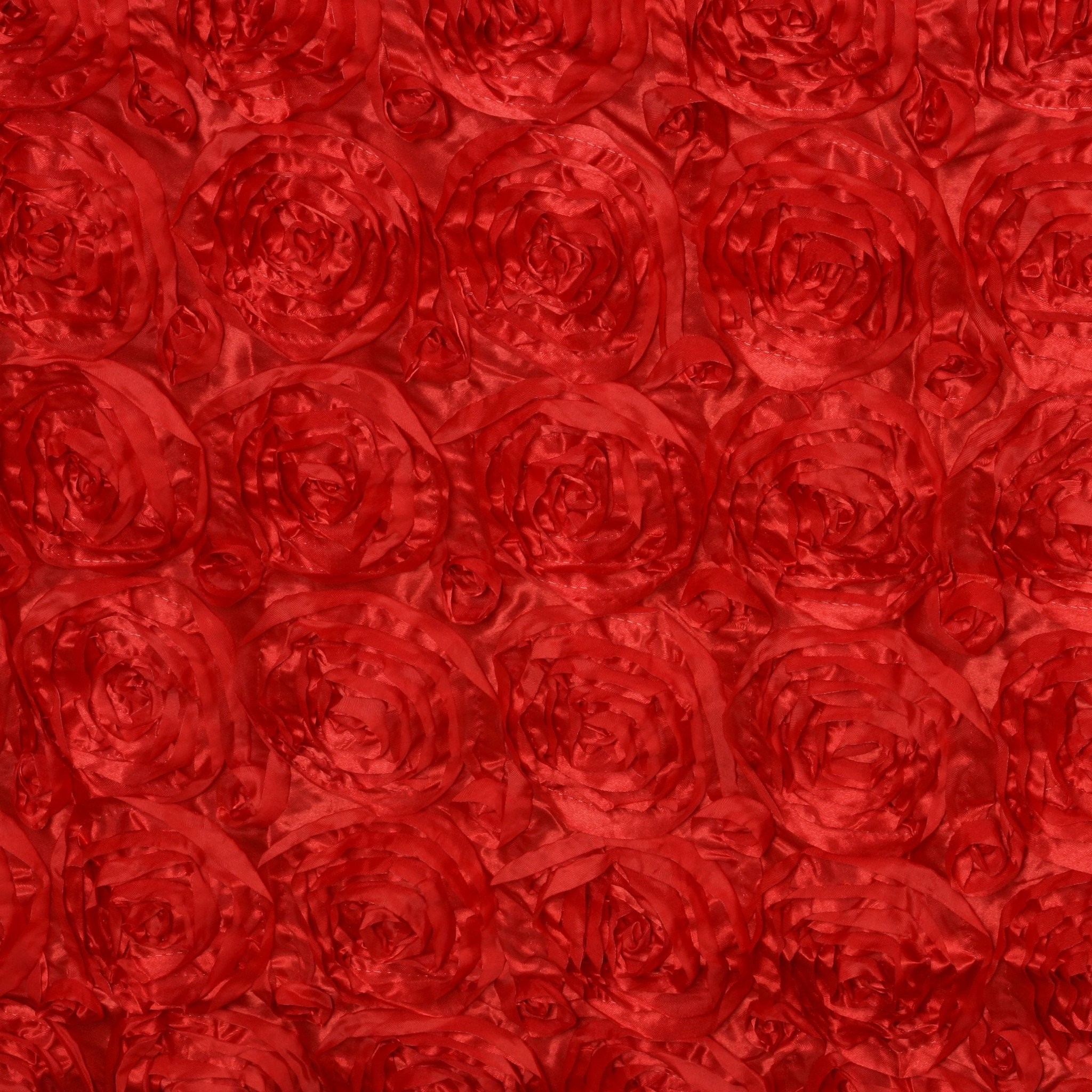 """Res: 2048x2048, 90""""x156"""" RED Wholesale Grandiose Rosette 3D Satin Tablecloth For Wedding  Party Event Decoration"""