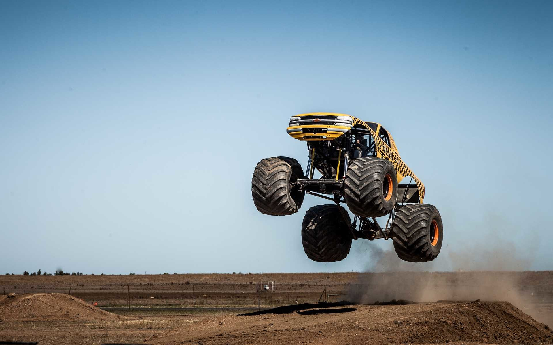 Res: 1920x1200, High Resolution Of Monster Truck Jump Stop Action Wallpaper Hd Desktop