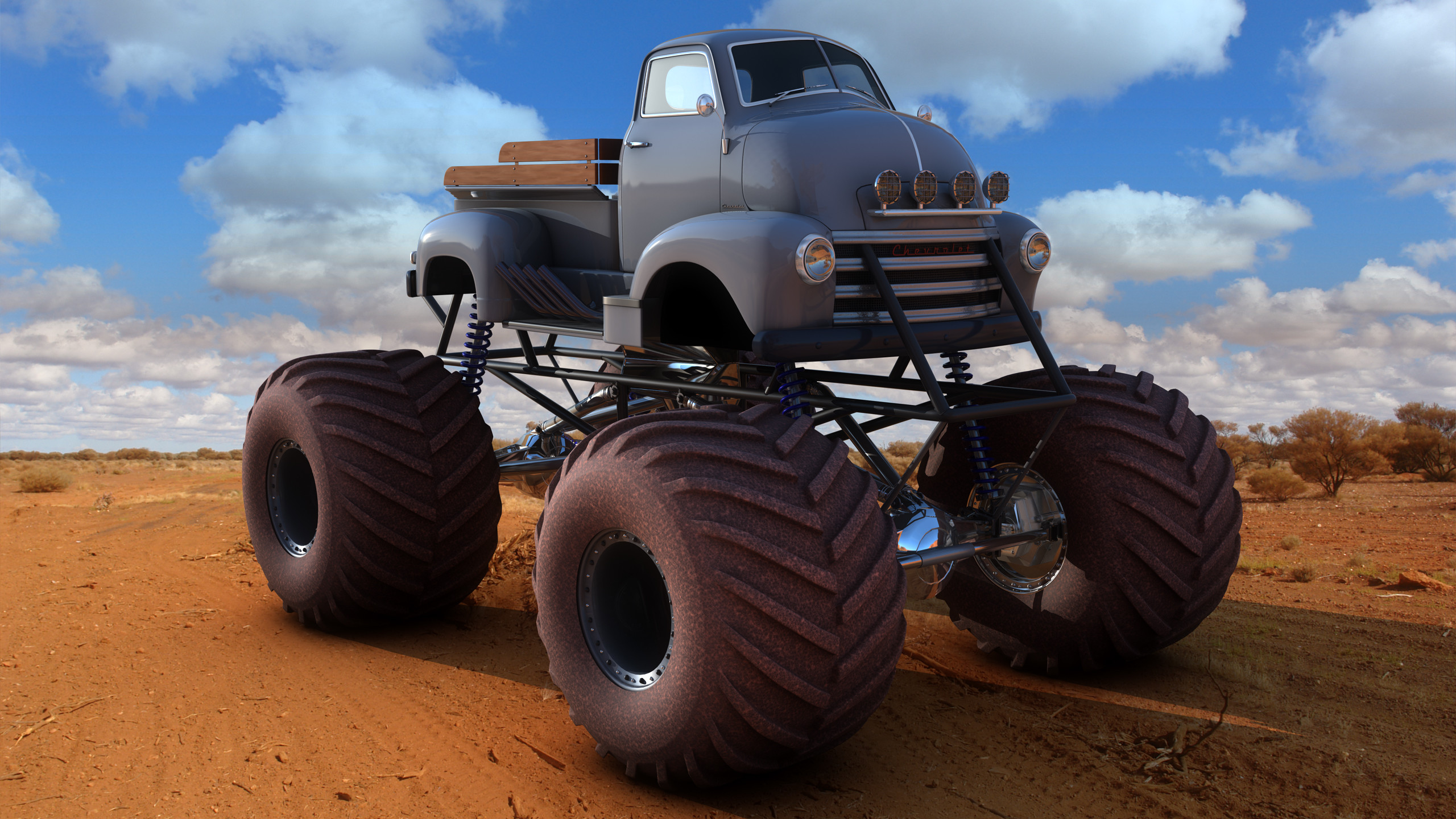 Res: 2560x1440, ... Chevy COE Monster Truck by SamCurry