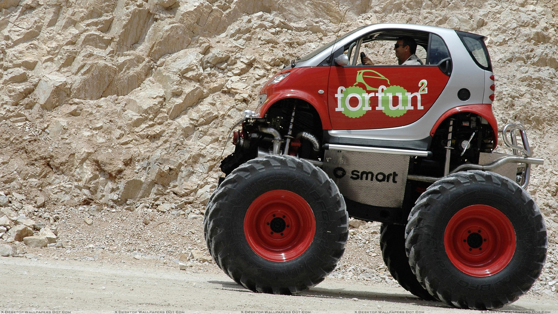"""Res: 1920x1080, You are viewing wallpaper titled """"Smart Forfun Monster Truck ..."""