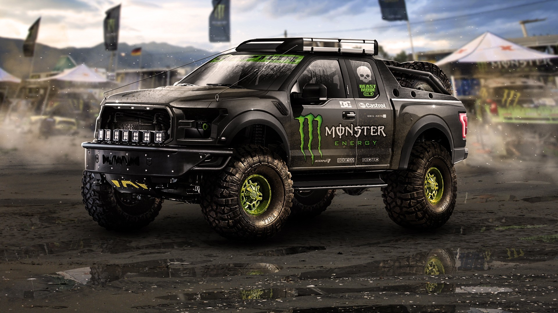 Res: 1920x1080, pickup trucks monster energy car wallpaper and background