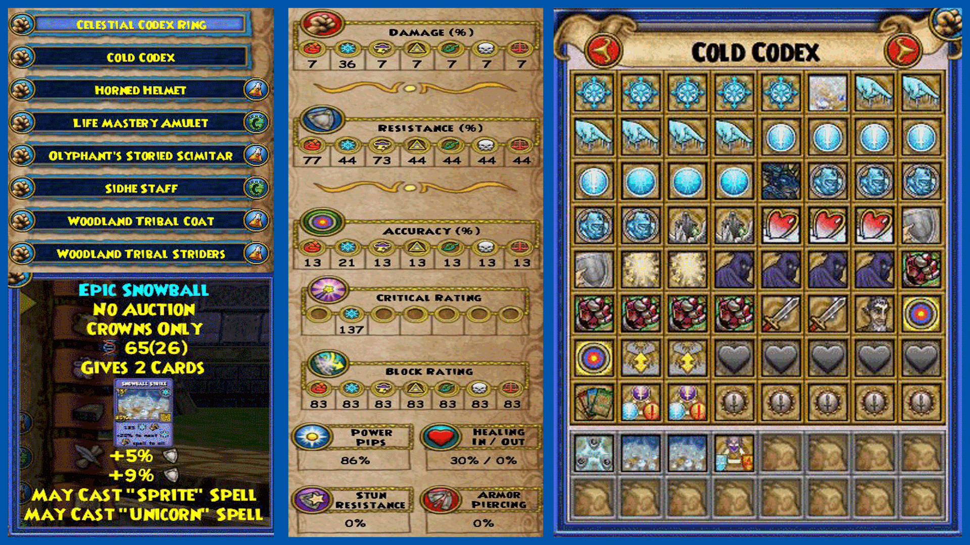 Res: 1920x1080, ... Wizard101 Card Overview ...
