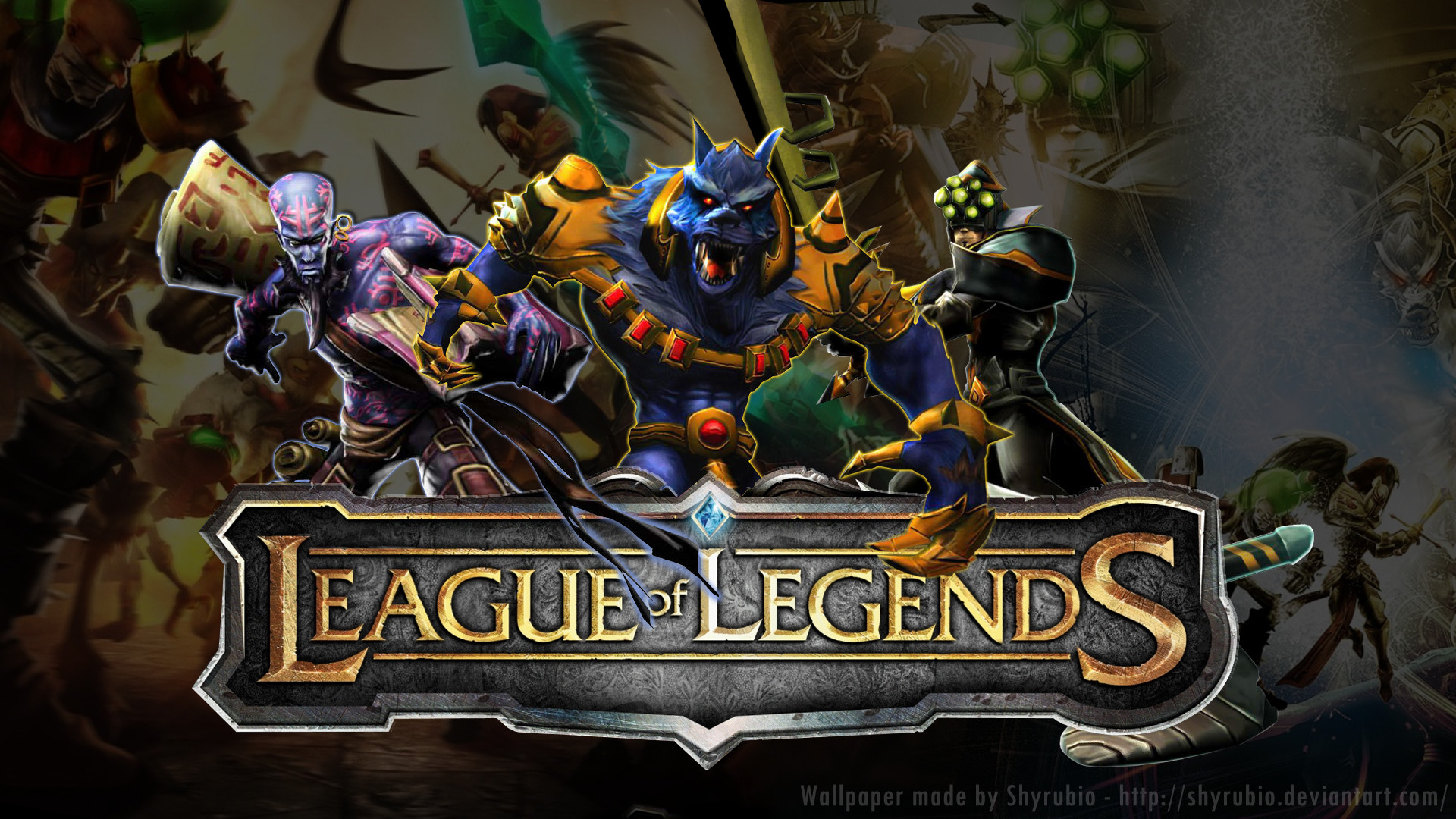 Res: 1920x1080, ... League Of Legends - Wallpaper by shyrubio