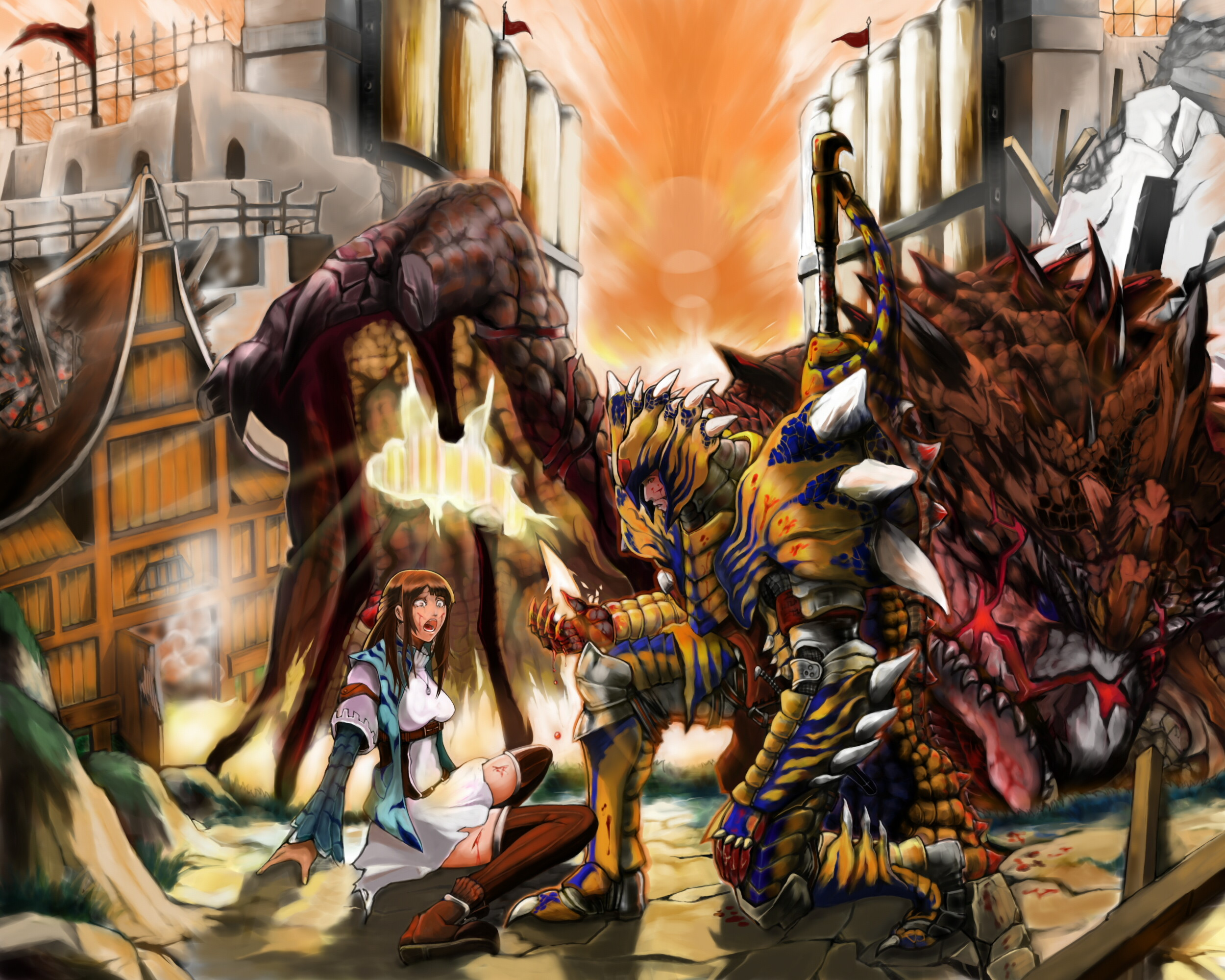 Res: 2500x2000, 126 Monster Hunter HD Wallpapers | Backgrounds - Wallpaper Abyss .