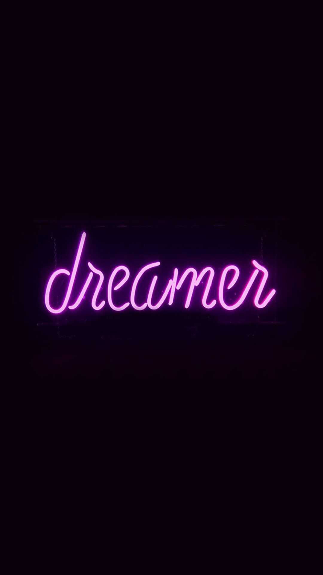 Res: 1080x1920, Dreamers Neon Sign Dark Illustration Art Purple #iPhone #6 #wallpaper