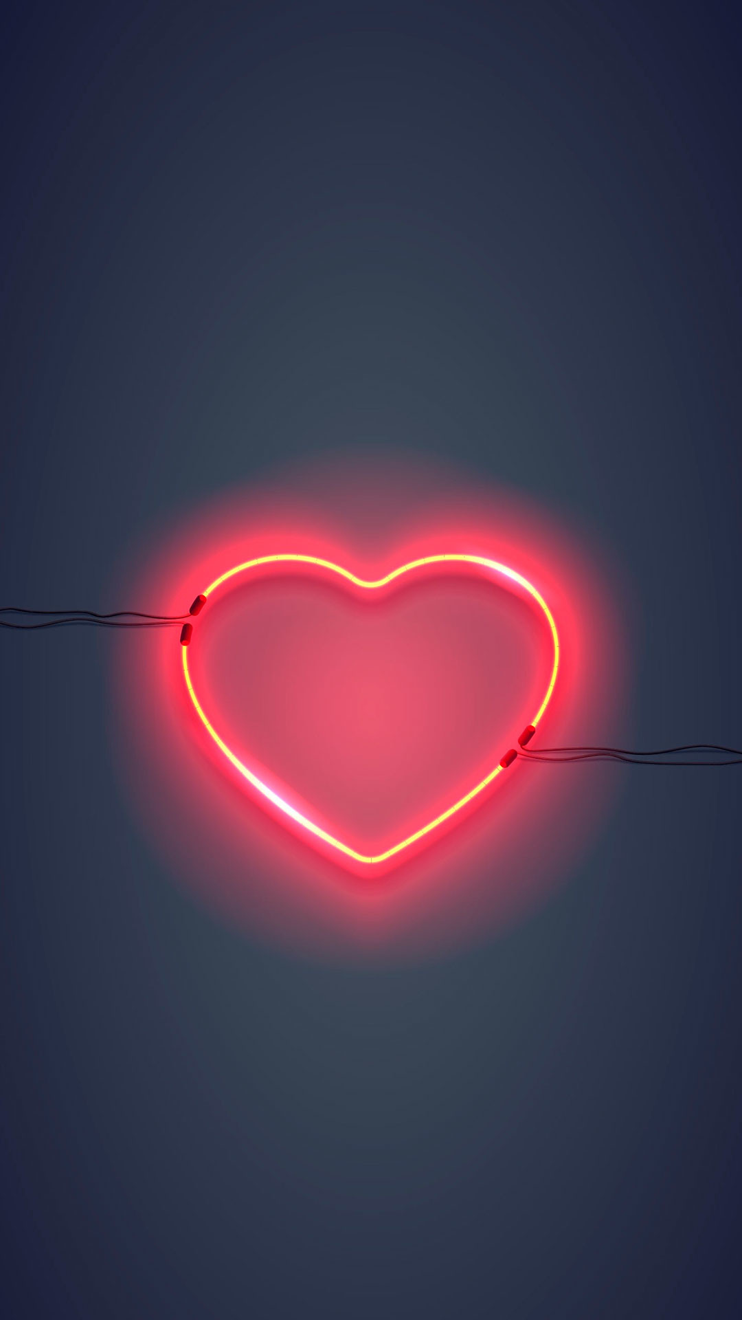 Res: 1080x1920, iPhone wallpaper neon sign heart Neon Sign