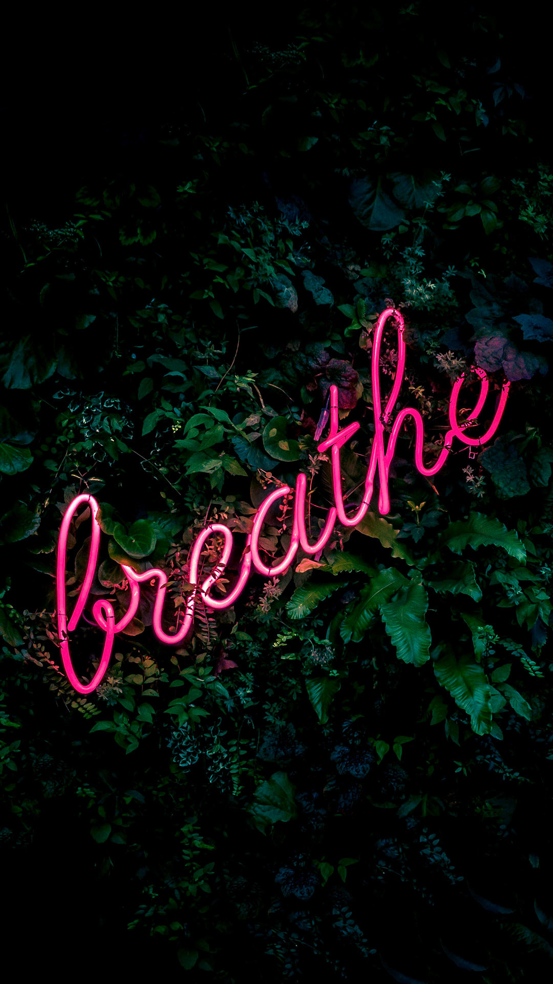 Res: 1080x1920, iPhone wallpaper neon sign breathe Neon Sign